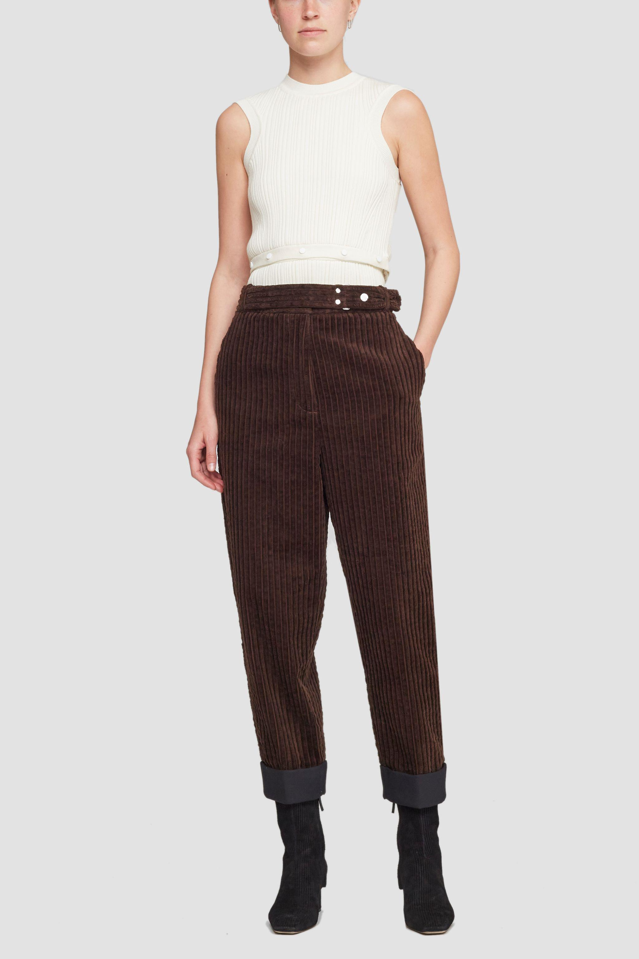 Utility Corduroy Buckled Cropped Trouser
