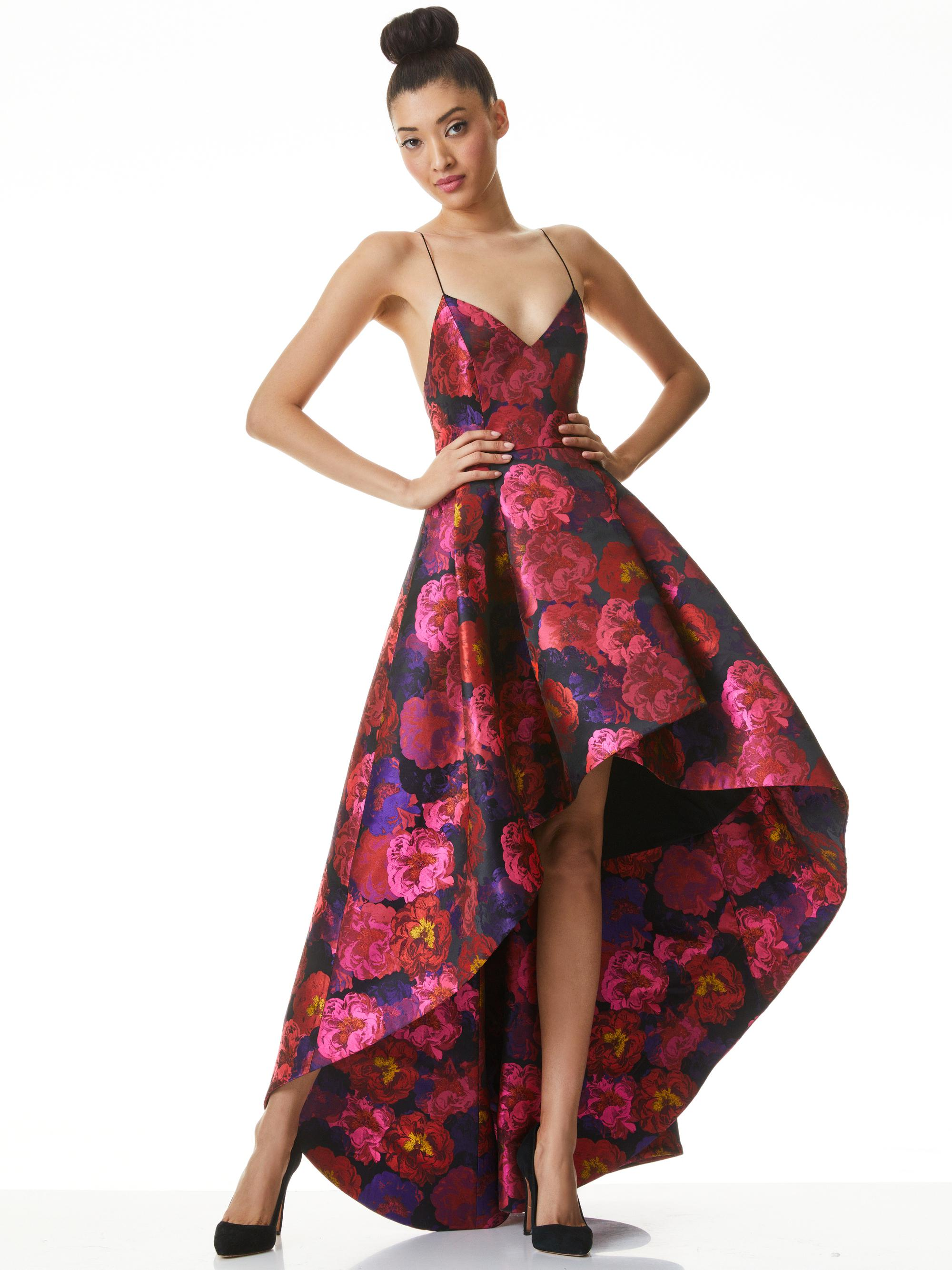 JOSS FLORAL HIGH LOW GOWN