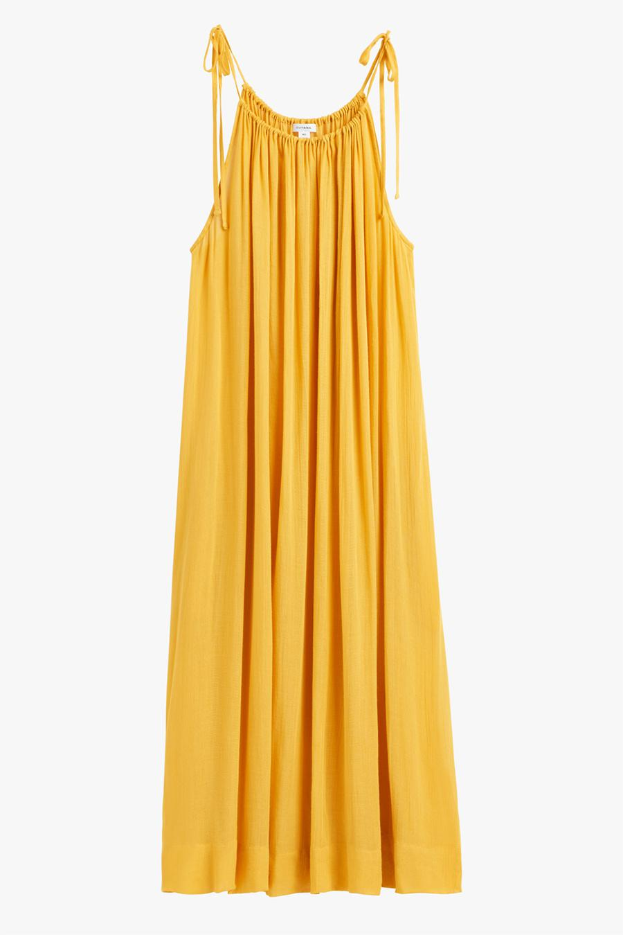 Women's Gathered-Neck Maxi Coverup in Daffodil | Size: 0