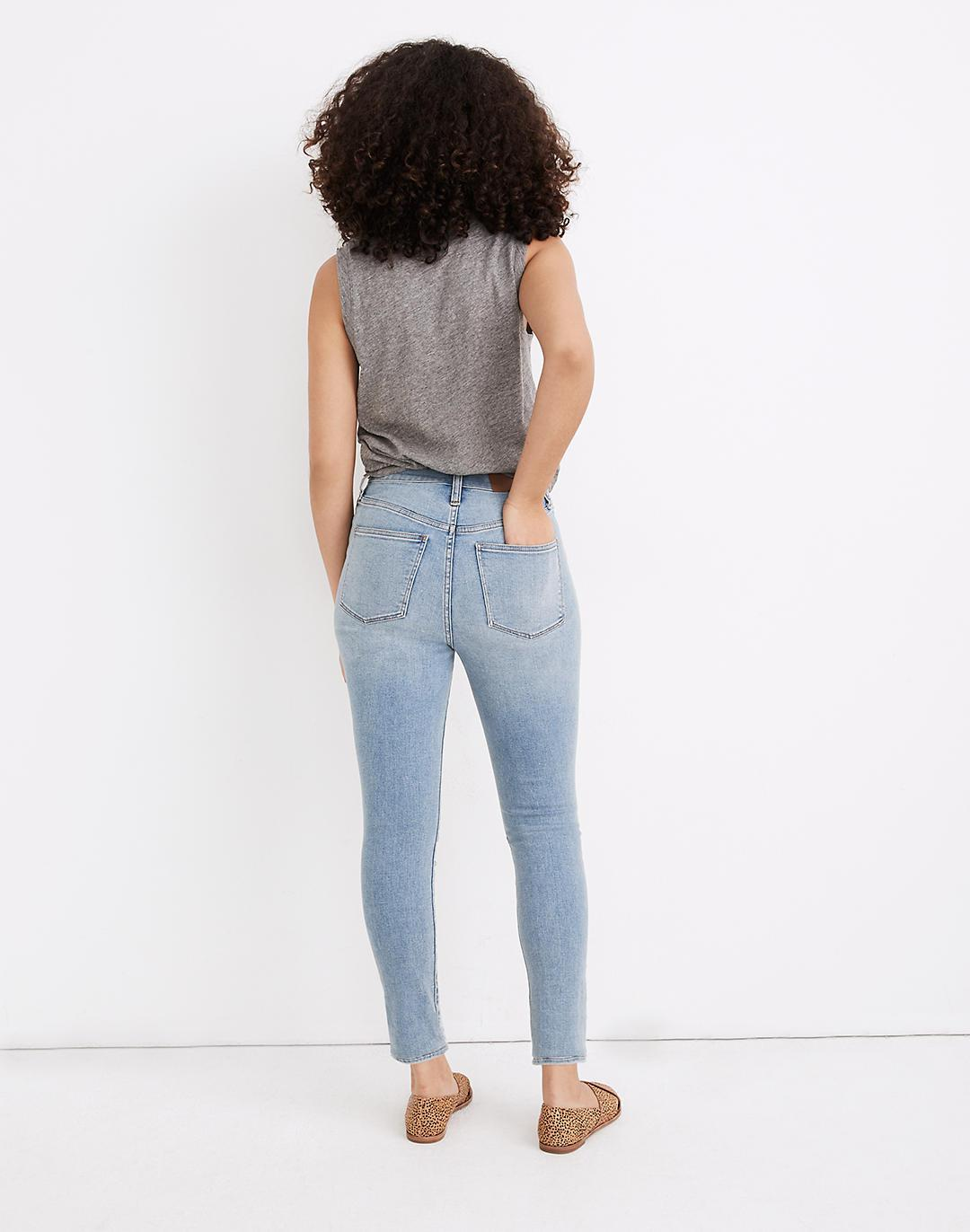 Curvy Roadtripper Authentic Jeans in Benton Wash: Knee-Rip Edition 2