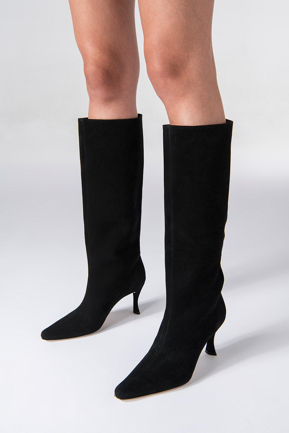 Stevie 42 Black Suede Leather 2