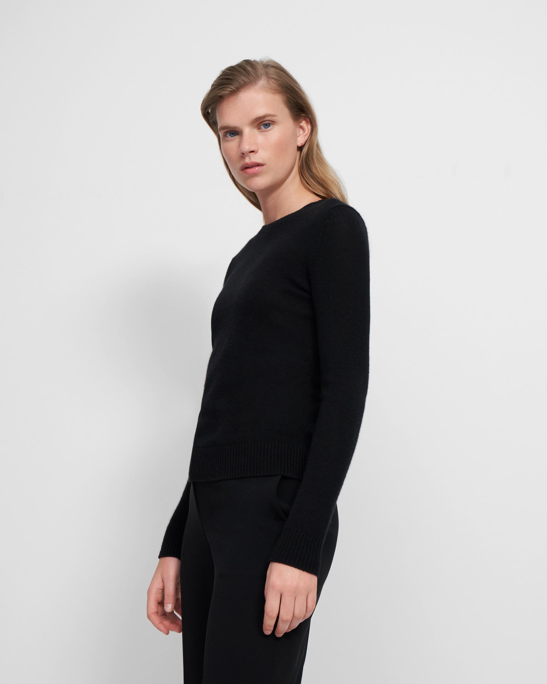 Crewneck Sweater in Feather Cashmere 0