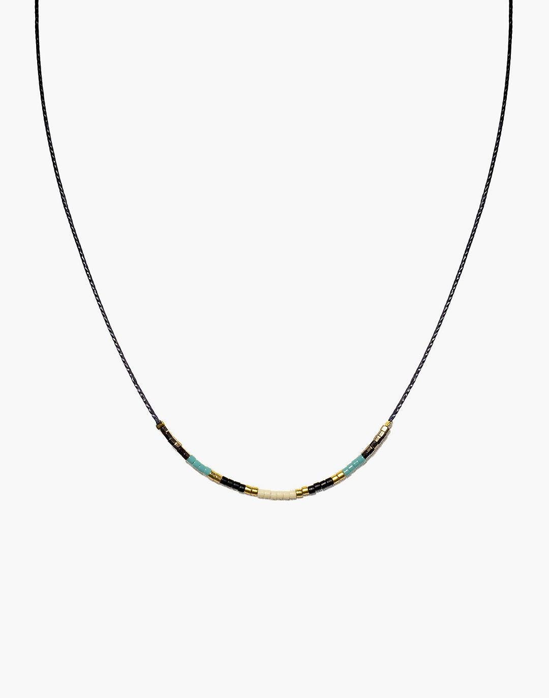 Cast of Stones Beaded Intention Necklace in Turquoise Multicolor