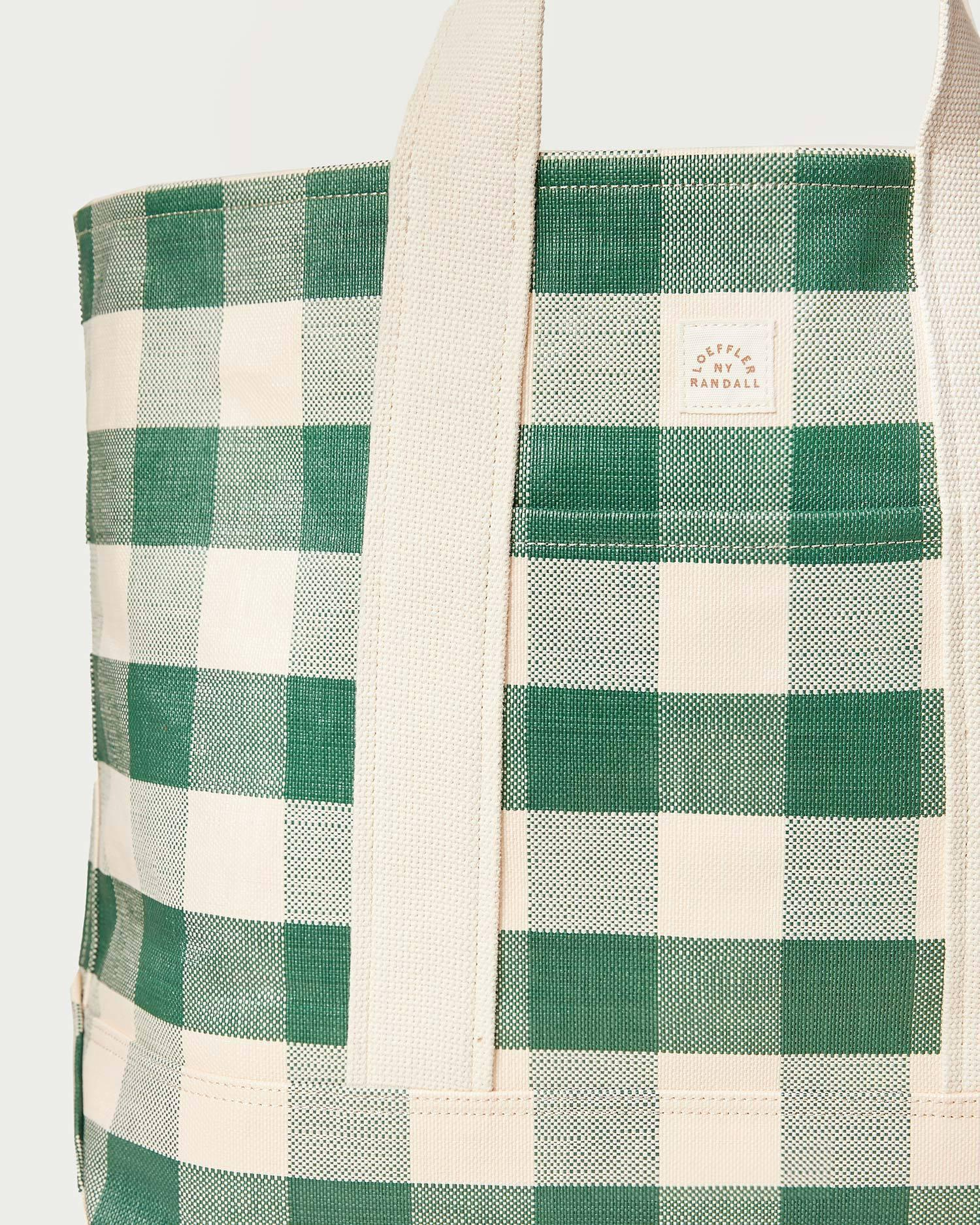 Bodie Gingham Oversized Open Tote 3