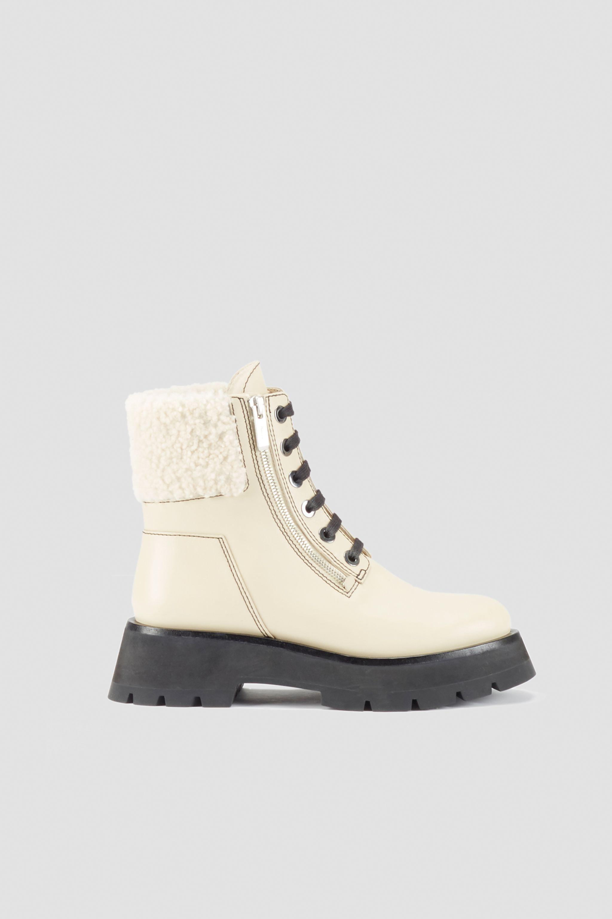 Kate Lug Sole Double Zip Shearling Boot