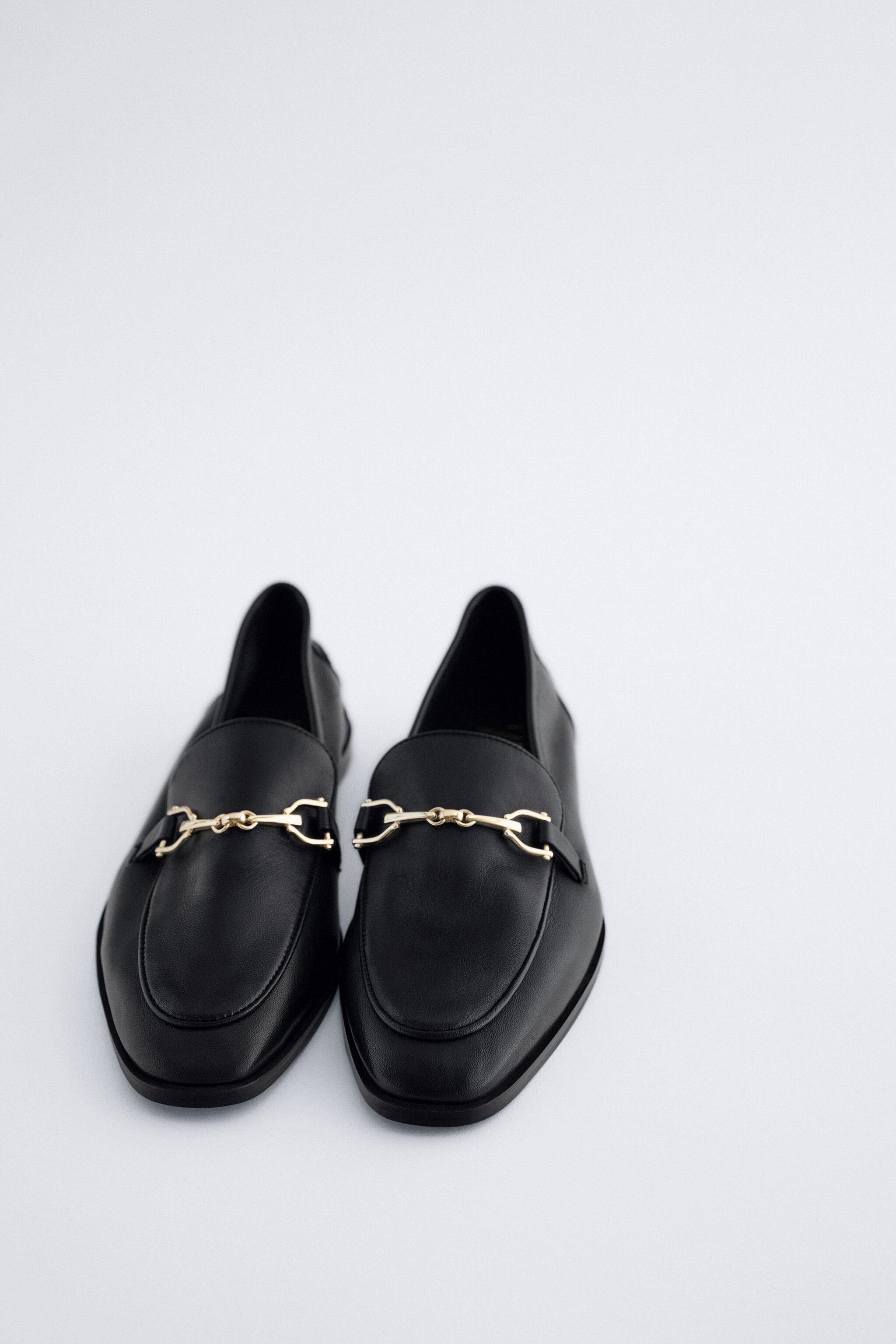BUCKLED LEATHER LOAFERS 1