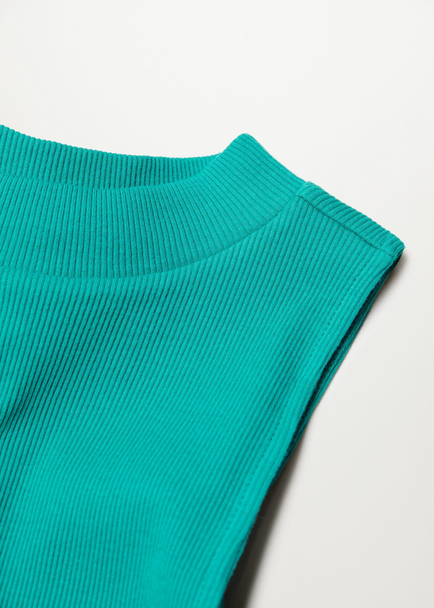 Ribbed cotton-blend top 5