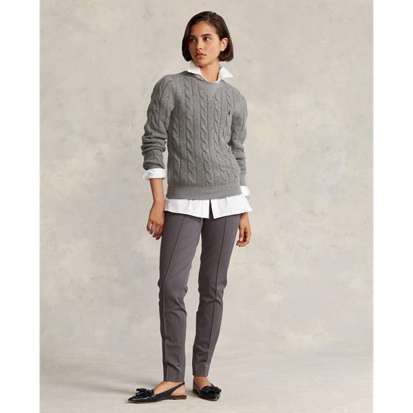 Cable-Knit Wool-Cashmere Pullover