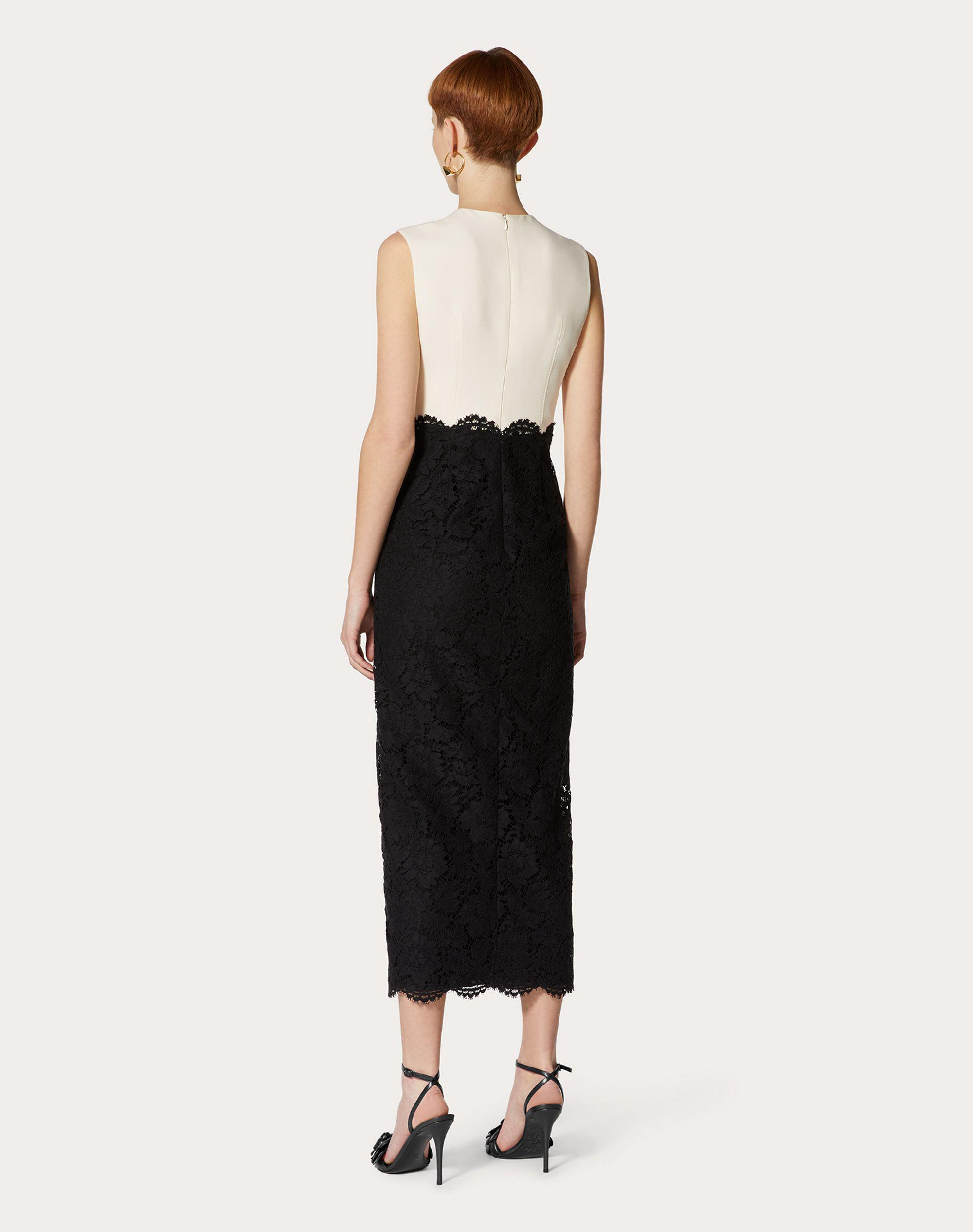 CREPE COUTURE AND HEAVY LACE DRESS 2