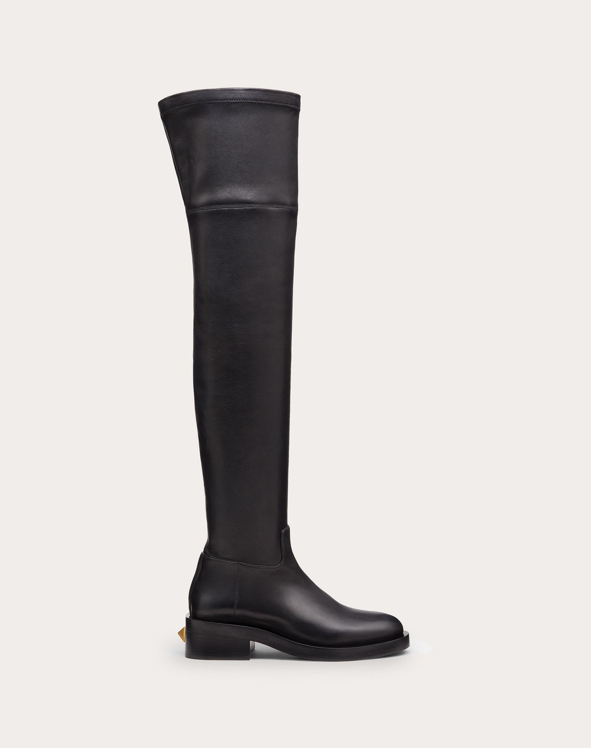 ROMAN STUD STRETCH NAPPA OVER-THE-KNEE BOOT 30MM