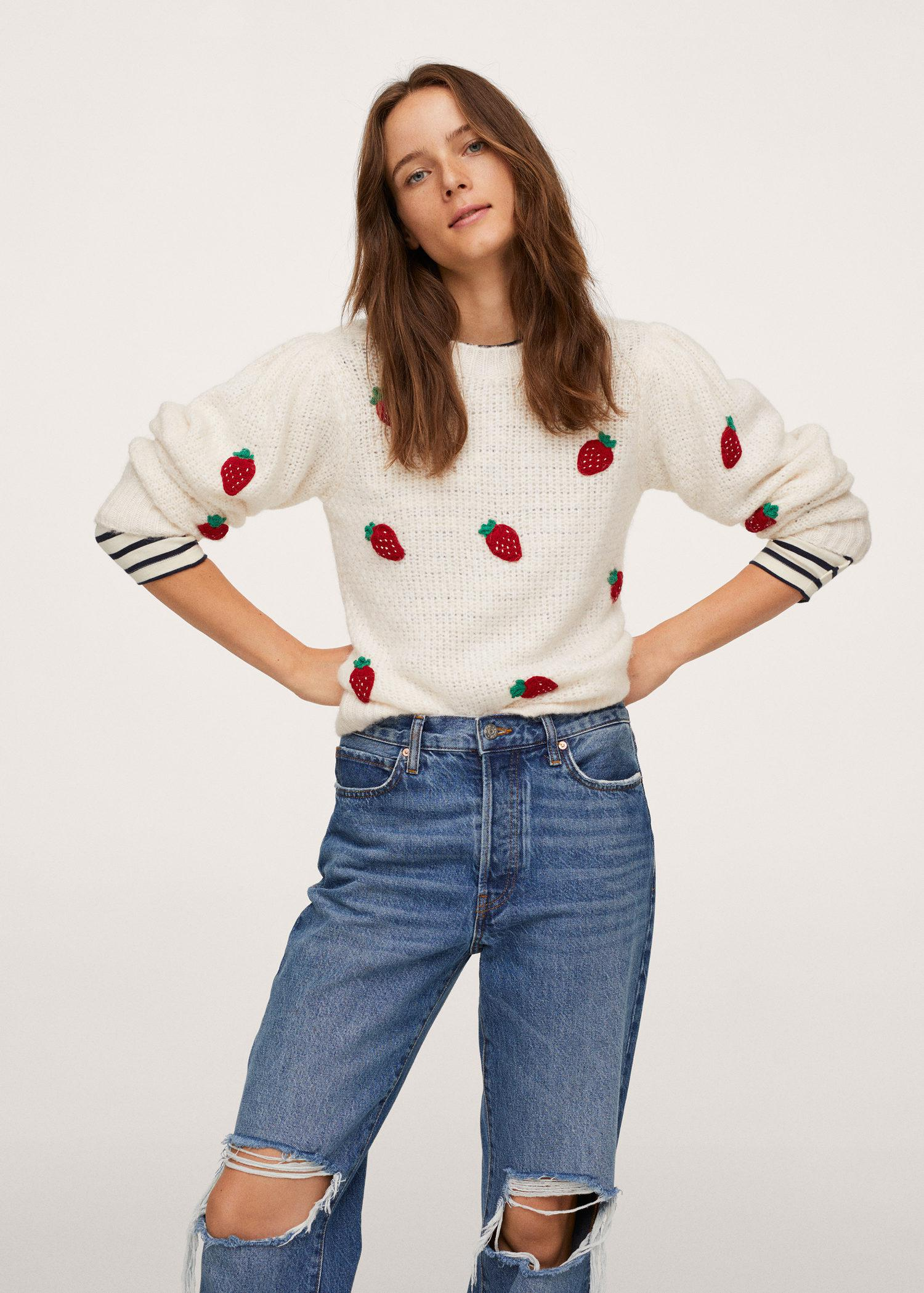 Knit embroidered sweater