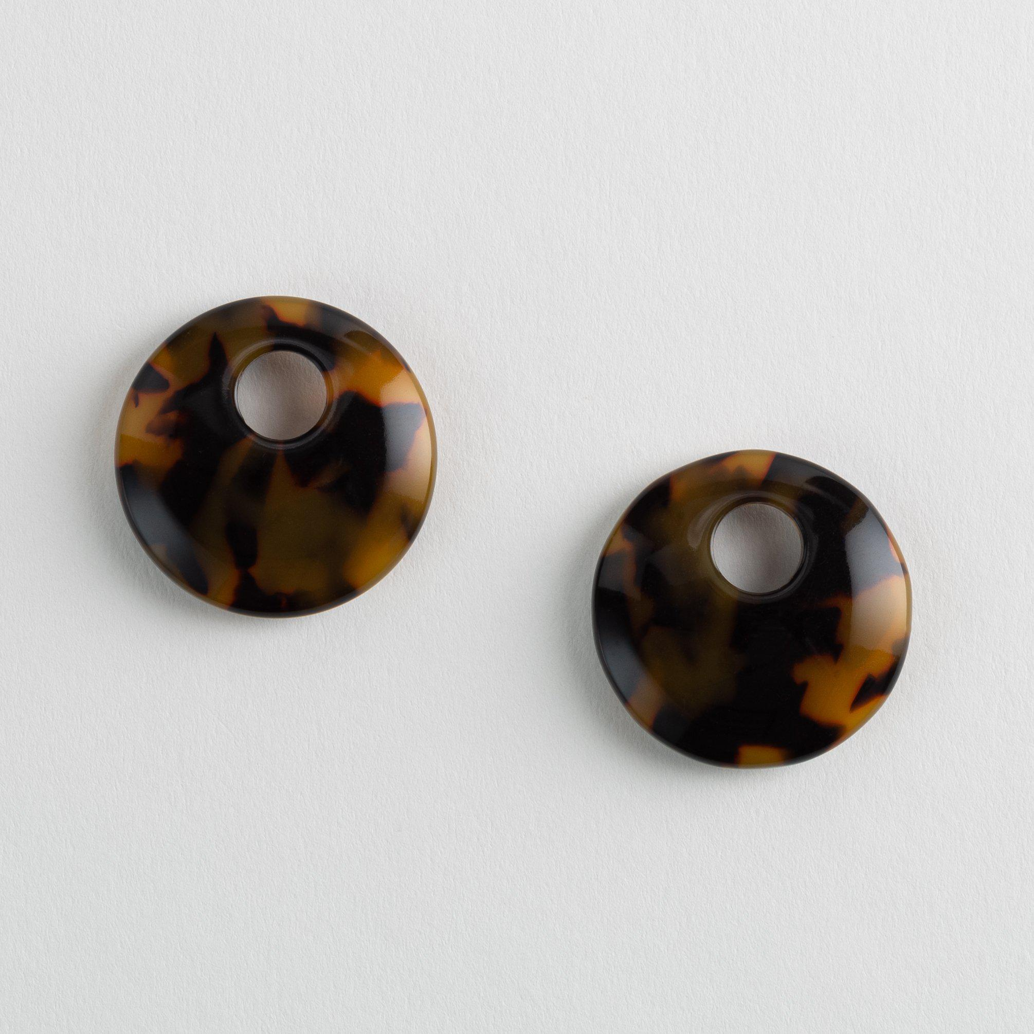 Disc Charms in Classic Tortoise