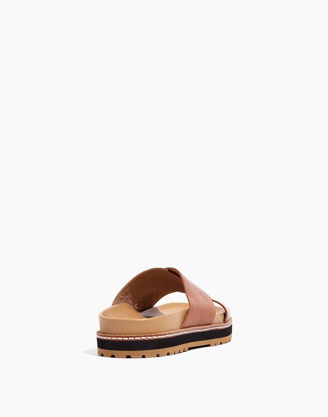 The Dayna Lugsole Slide Sandal in Leather 2