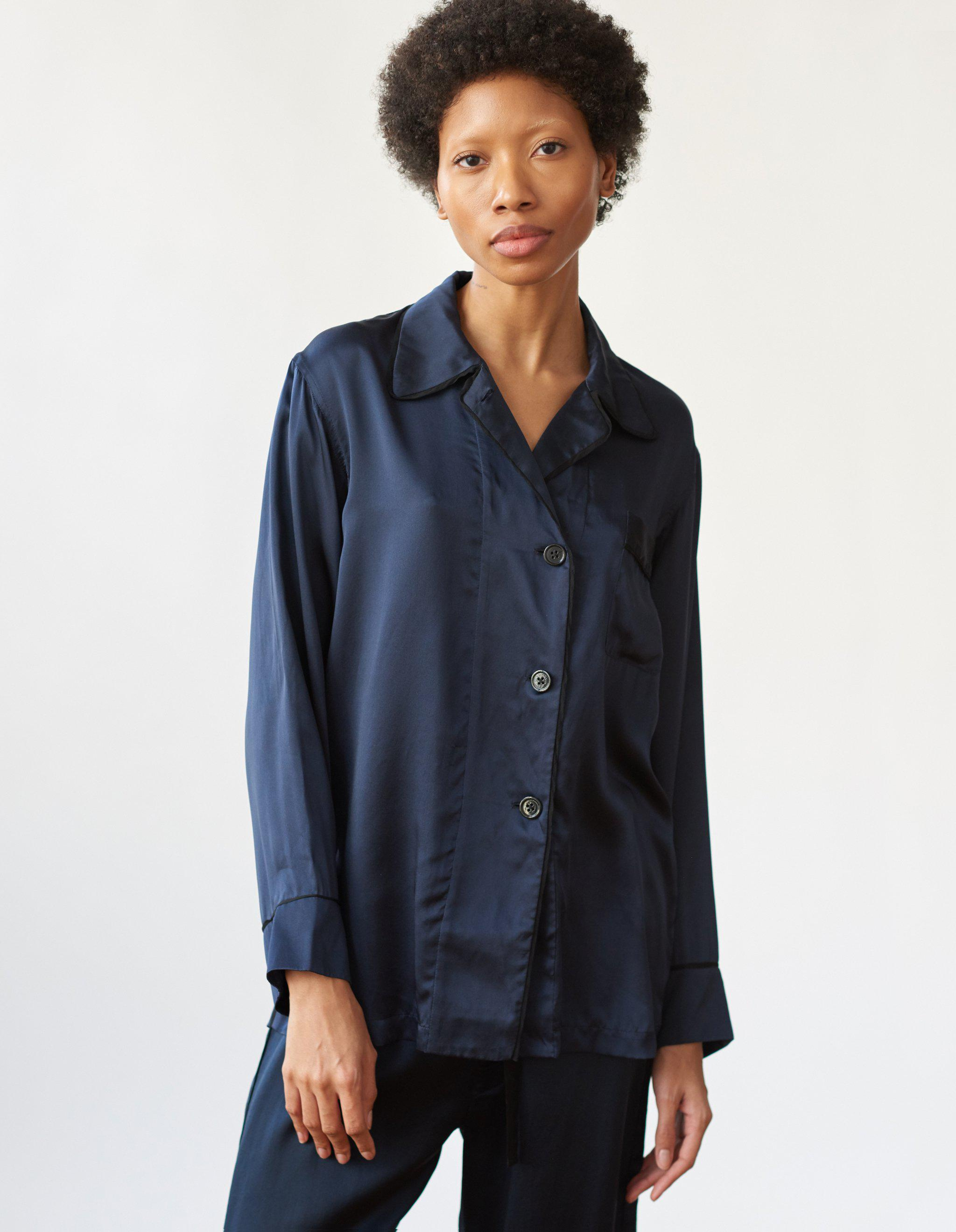 Kate Pajama Top Sea Silk