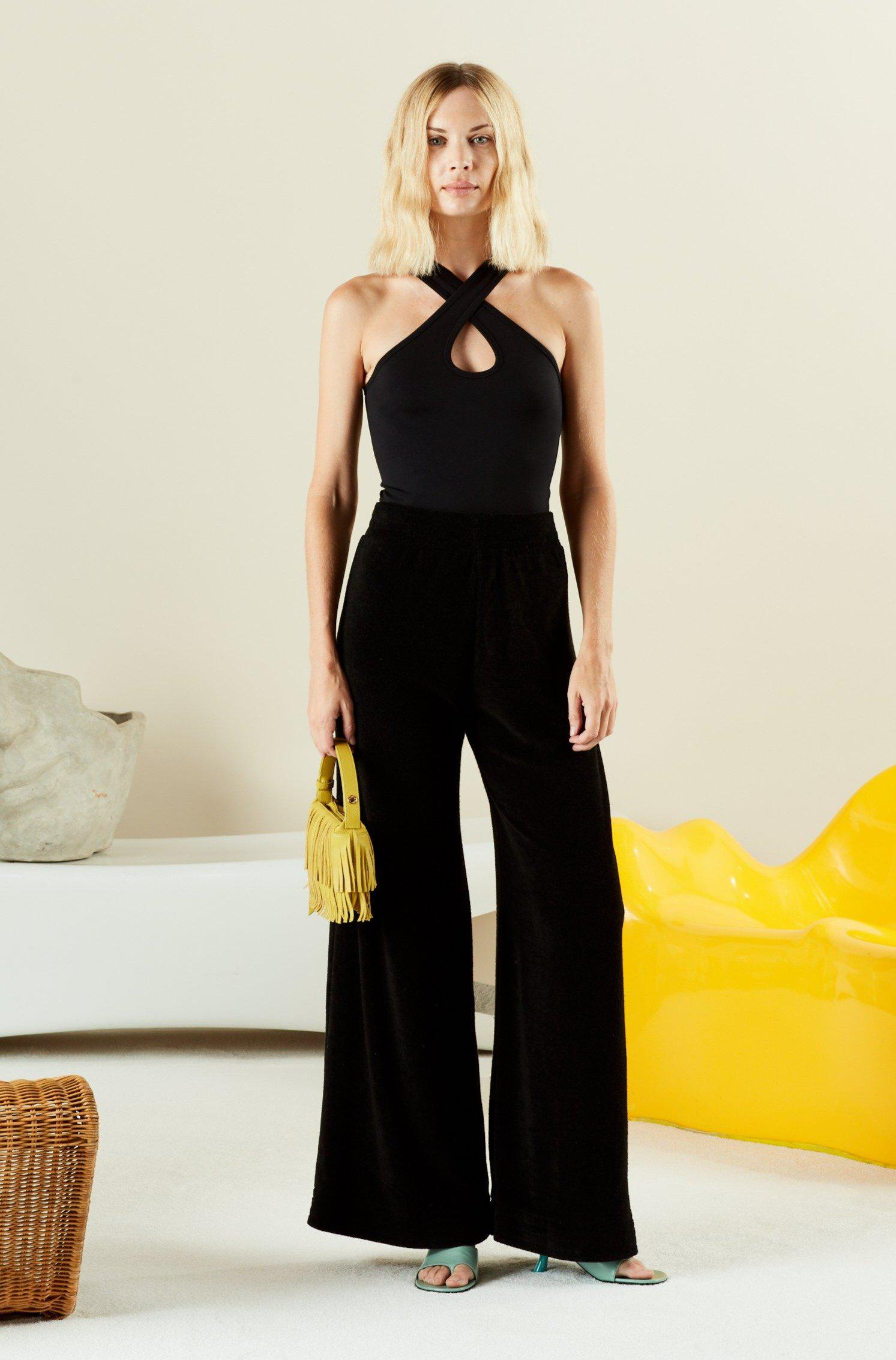 TERRY LOA PANT IN BLACK