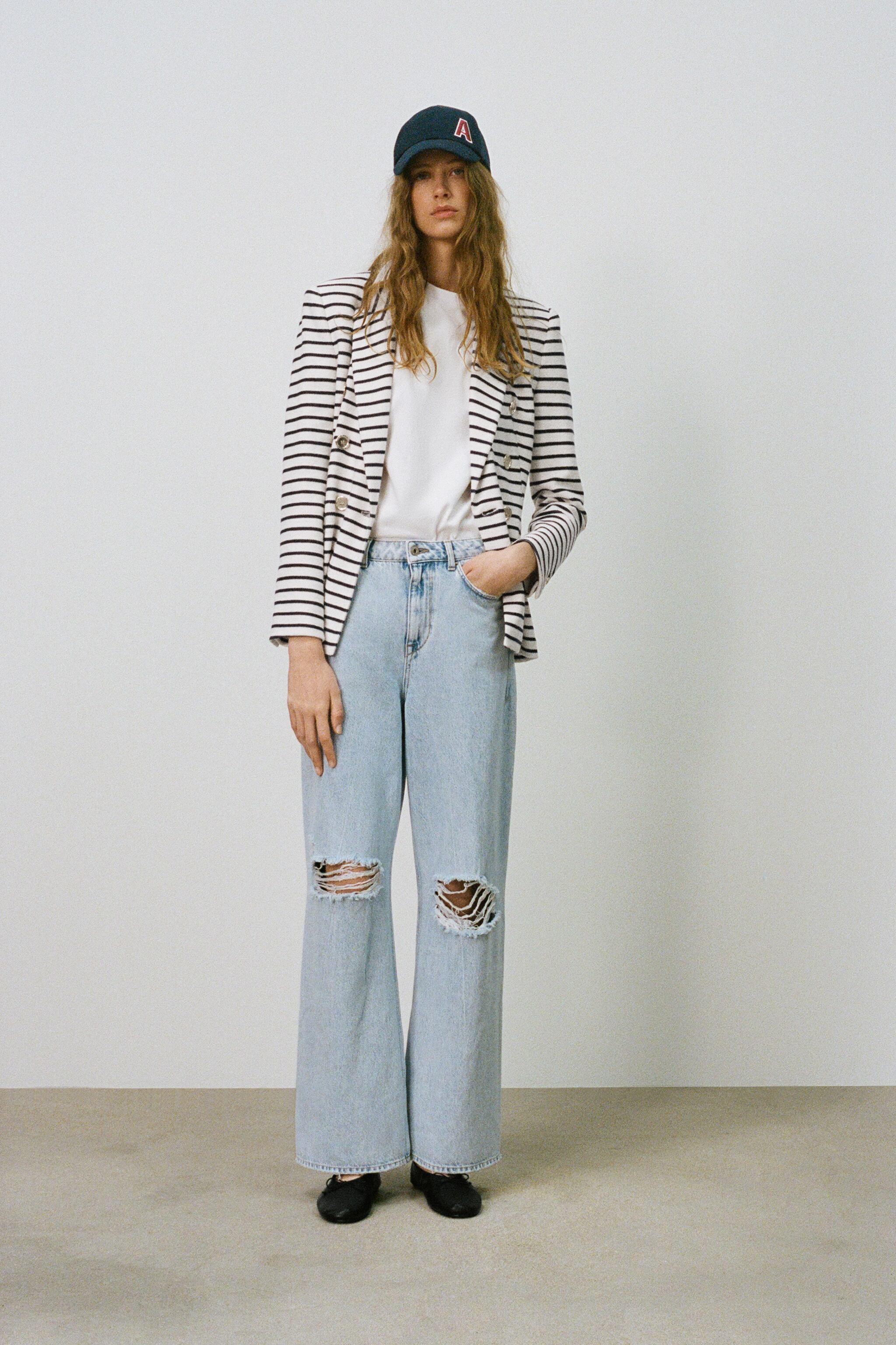 DOUBLE BREASTED STRIPED BLAZER 5