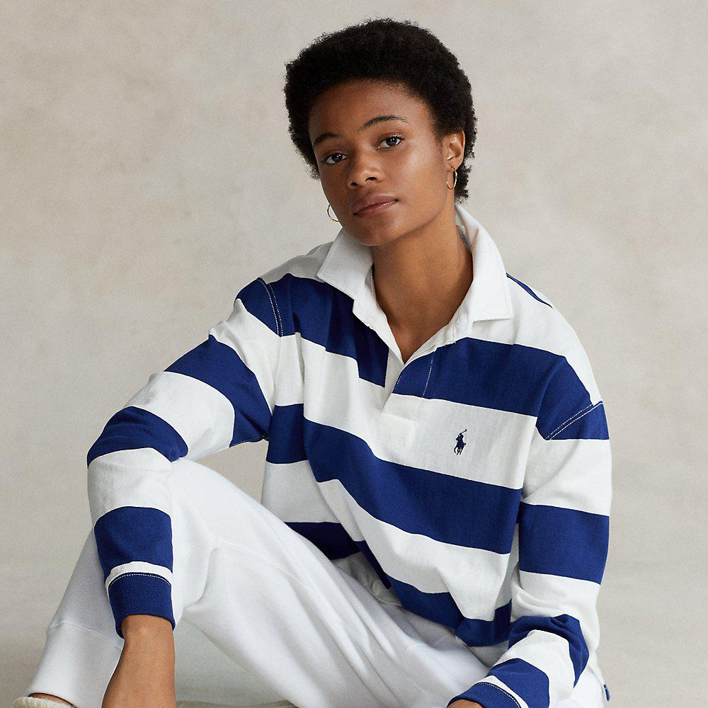 Cotton Cropped Rugby Shirt