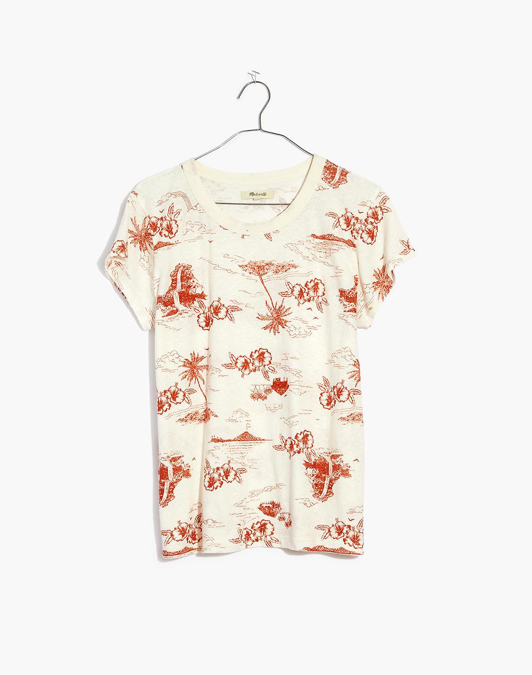 The Perfect Vintage Tee in Paradise Toile