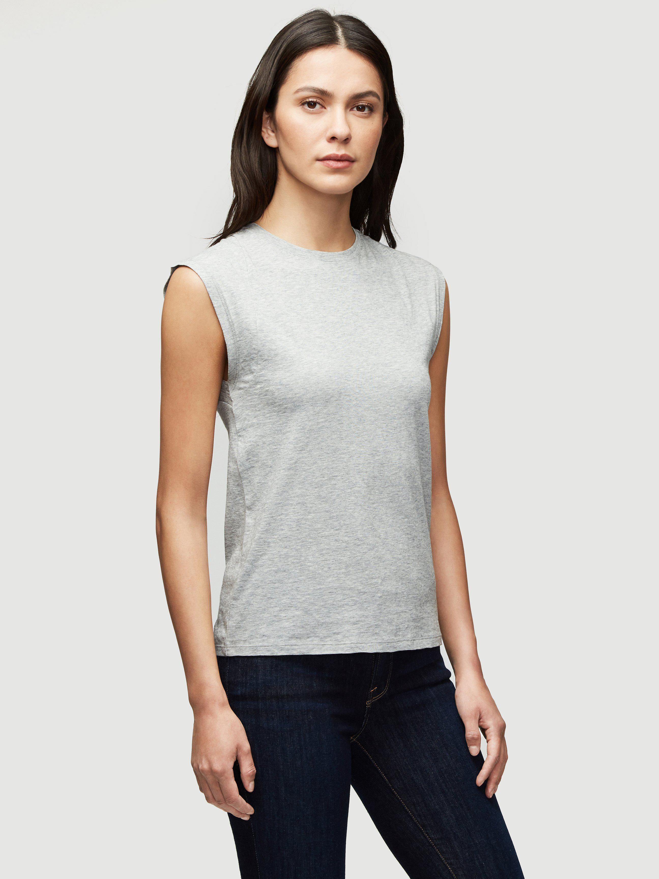 Le Mid Rise Muscle Tee -- Gris Heather