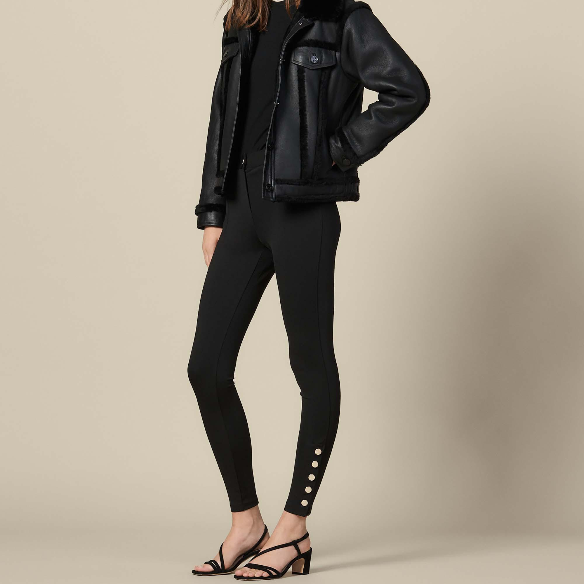 Leggings with press studs