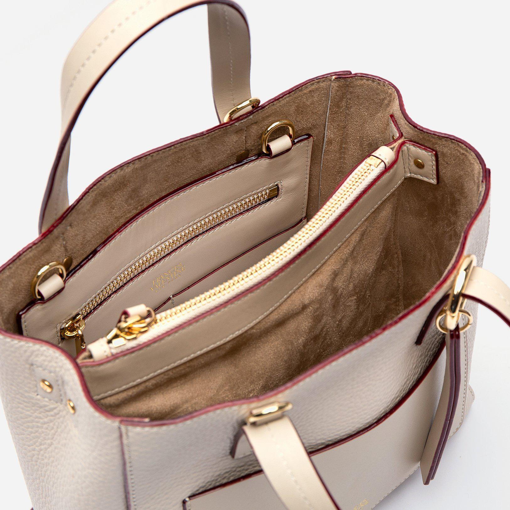 Small Chloe Tumbled Leather Oyster 2