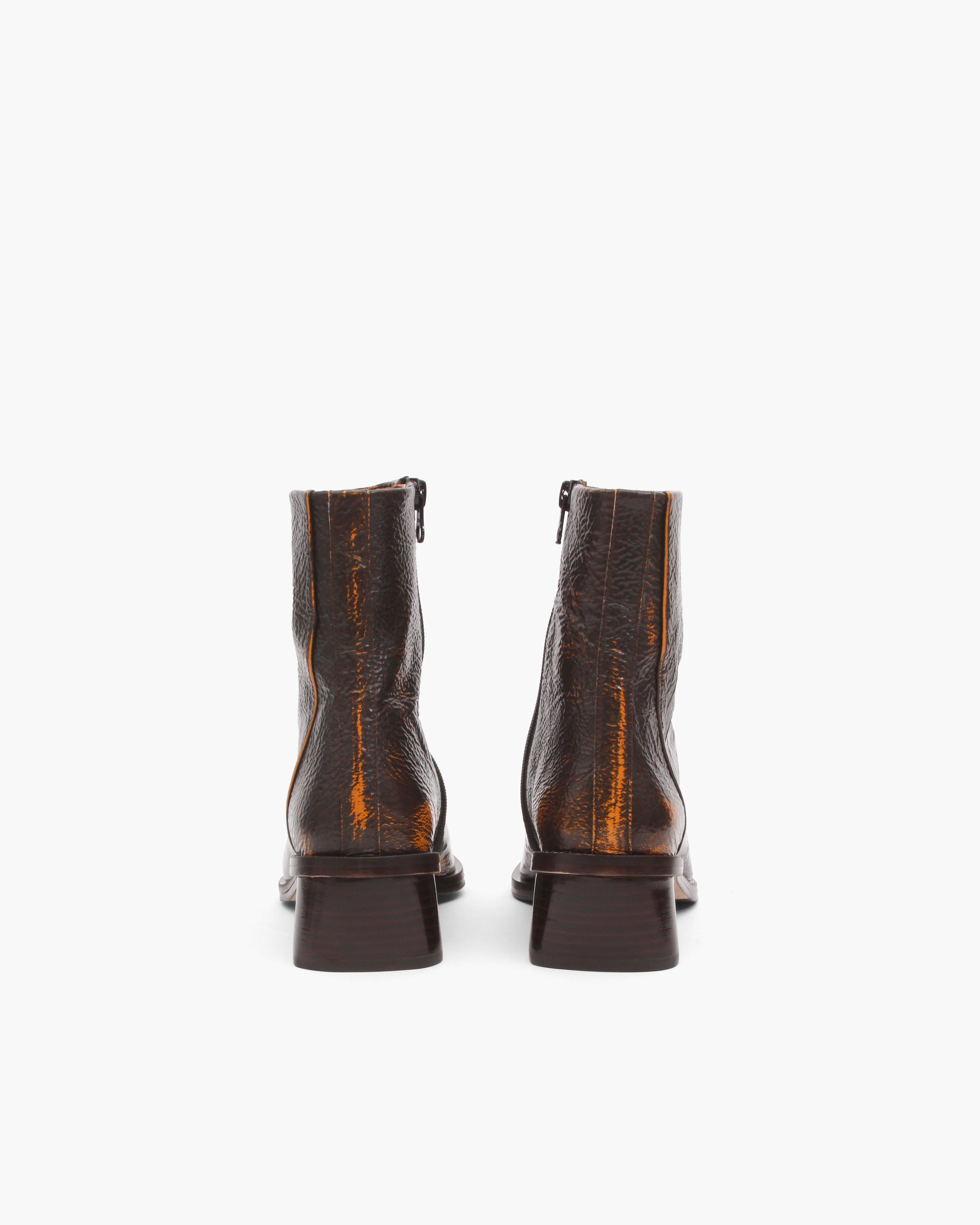 Miki Boots Leather Two-Tone Brown 2