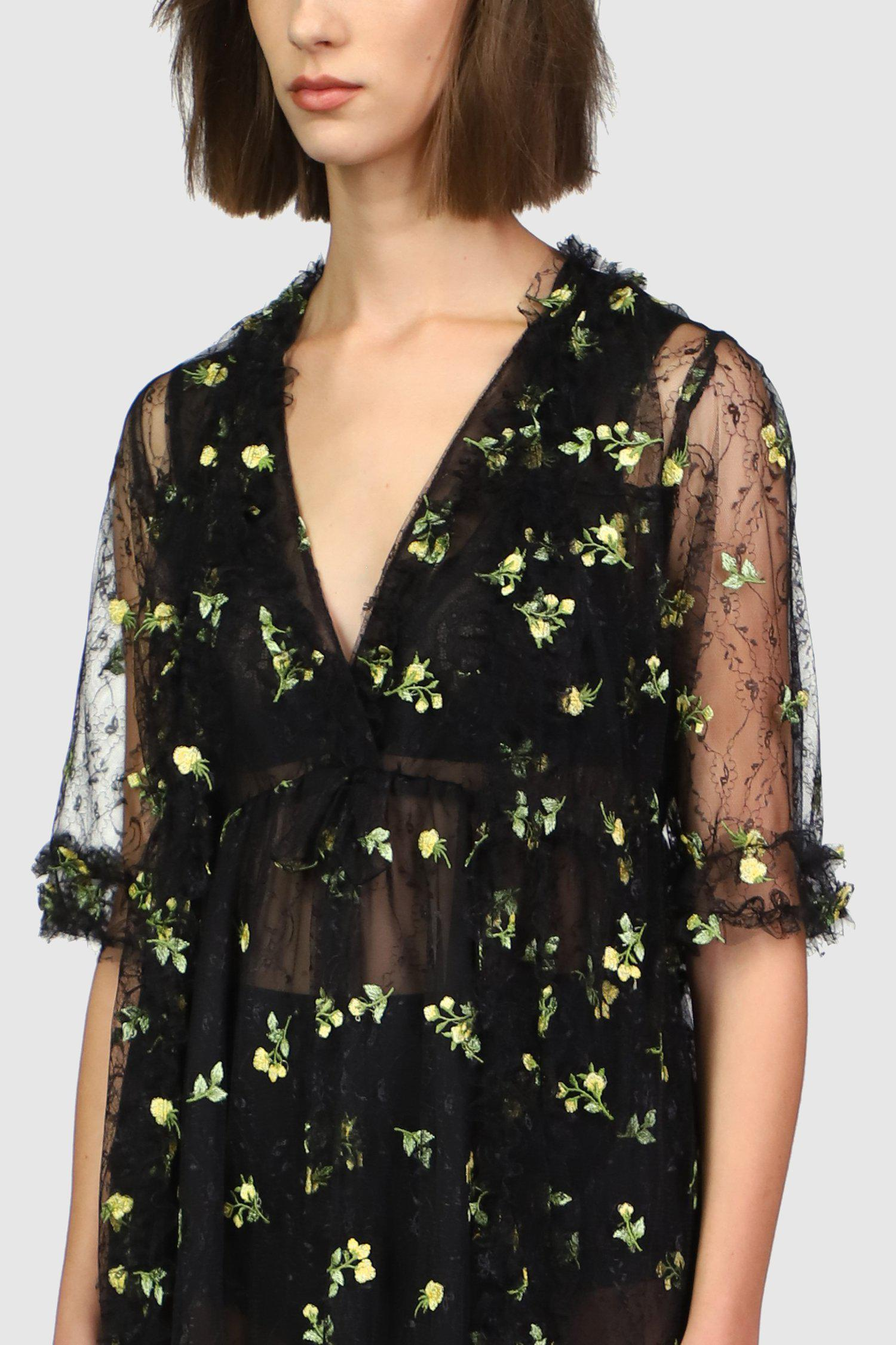 Scattered Blooms Lace Duster 1