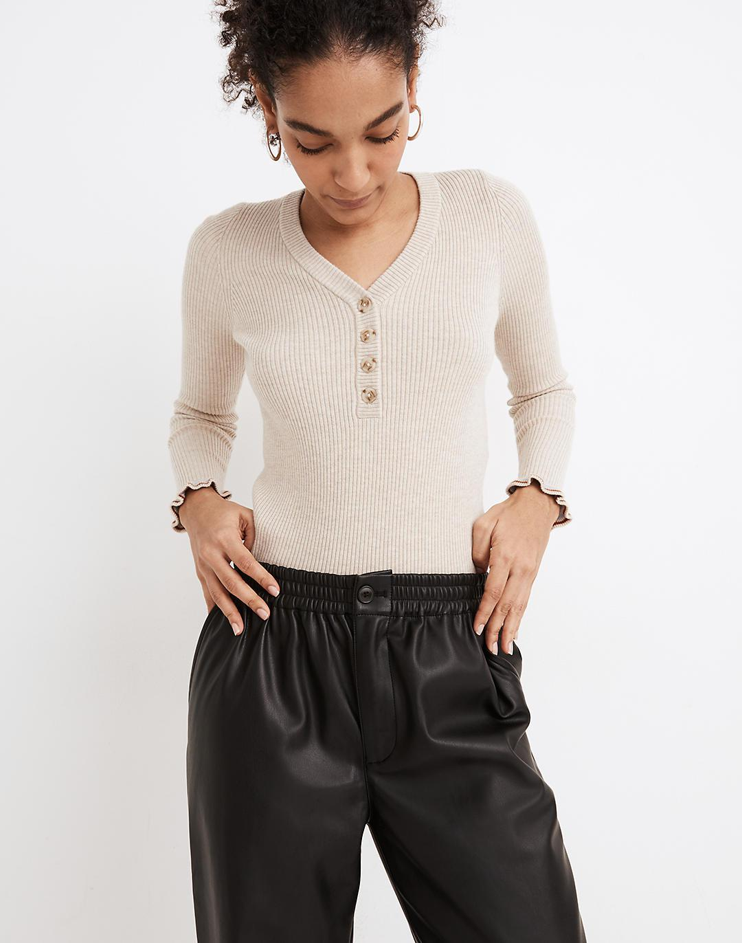 Vegan Leather Track Trousers 1