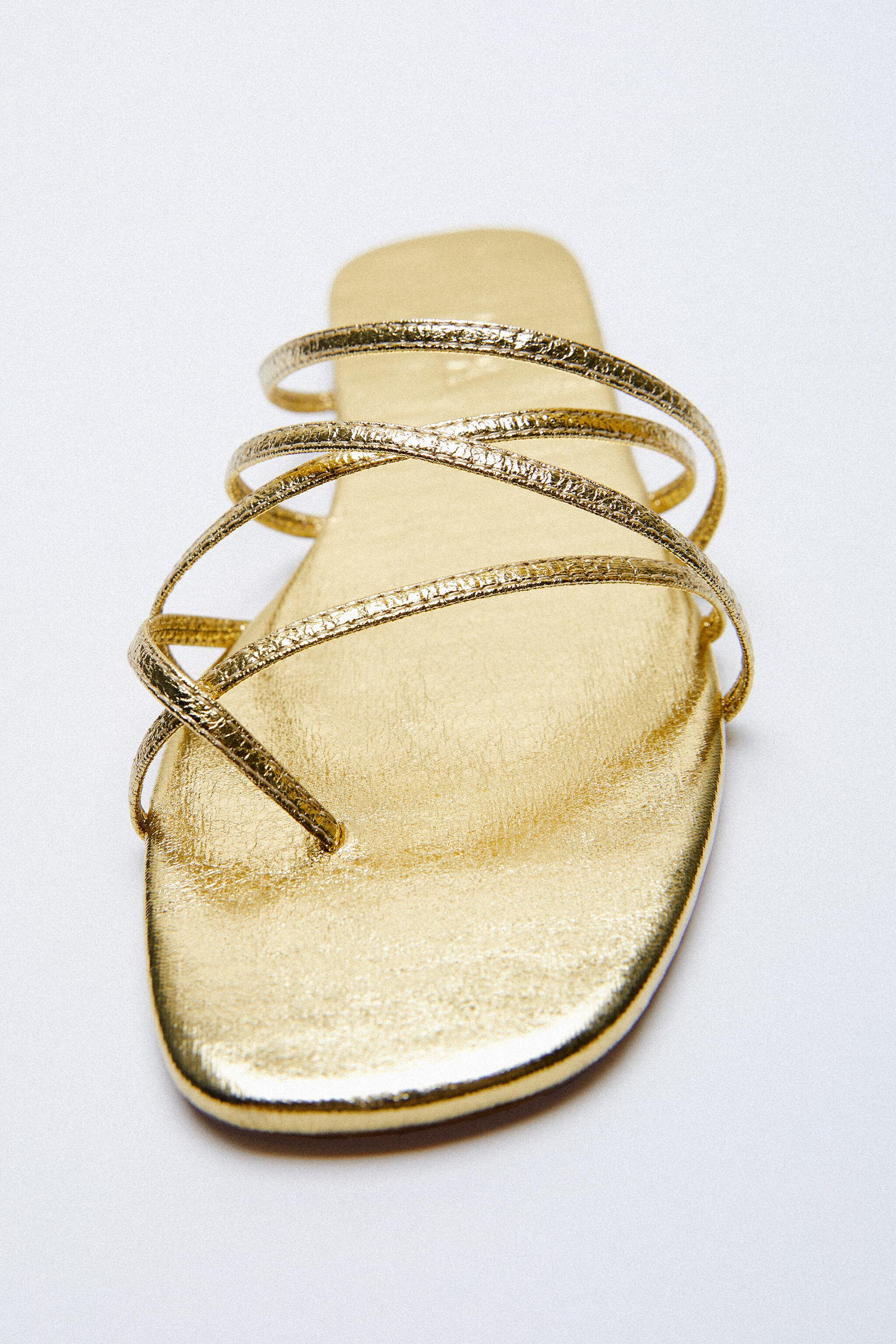 THIN STRAPPY FLAT SANDALS 3