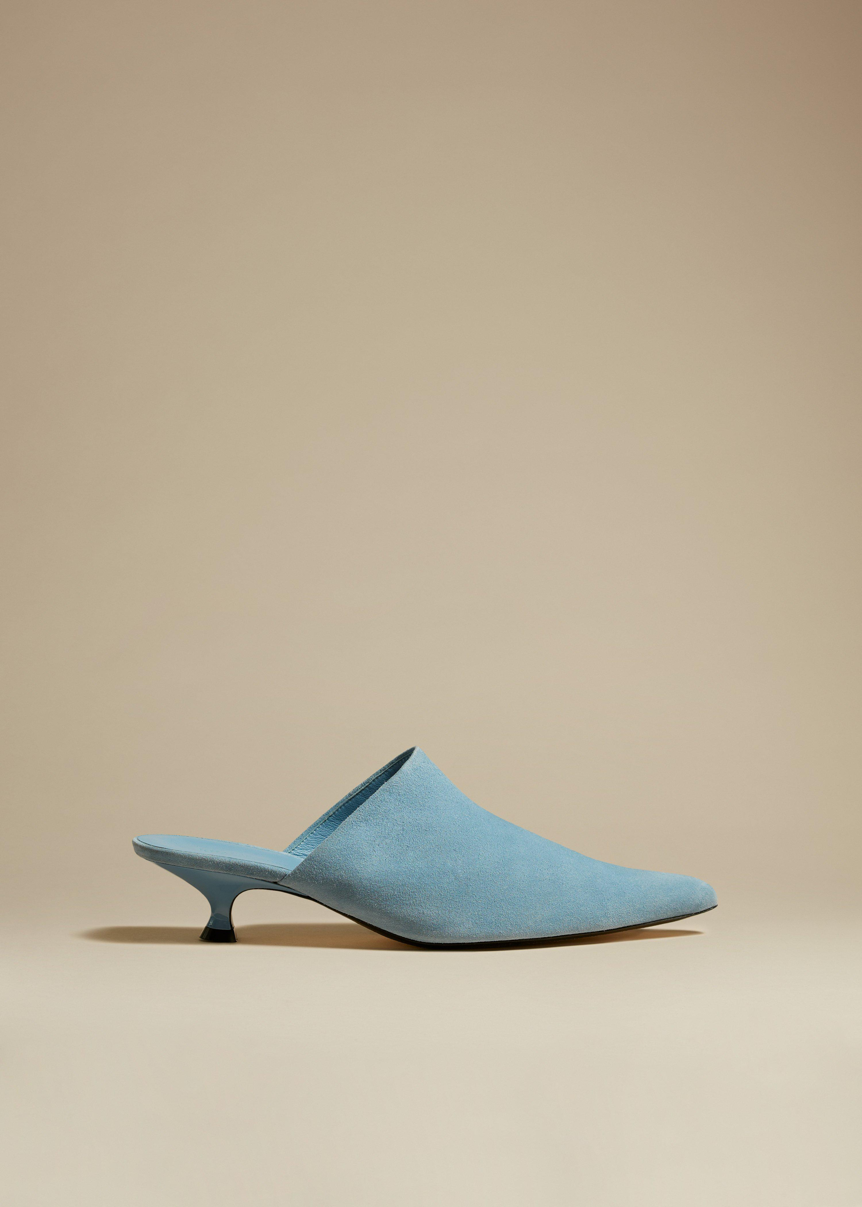 The Volosa Mule in Atmosphere Suede