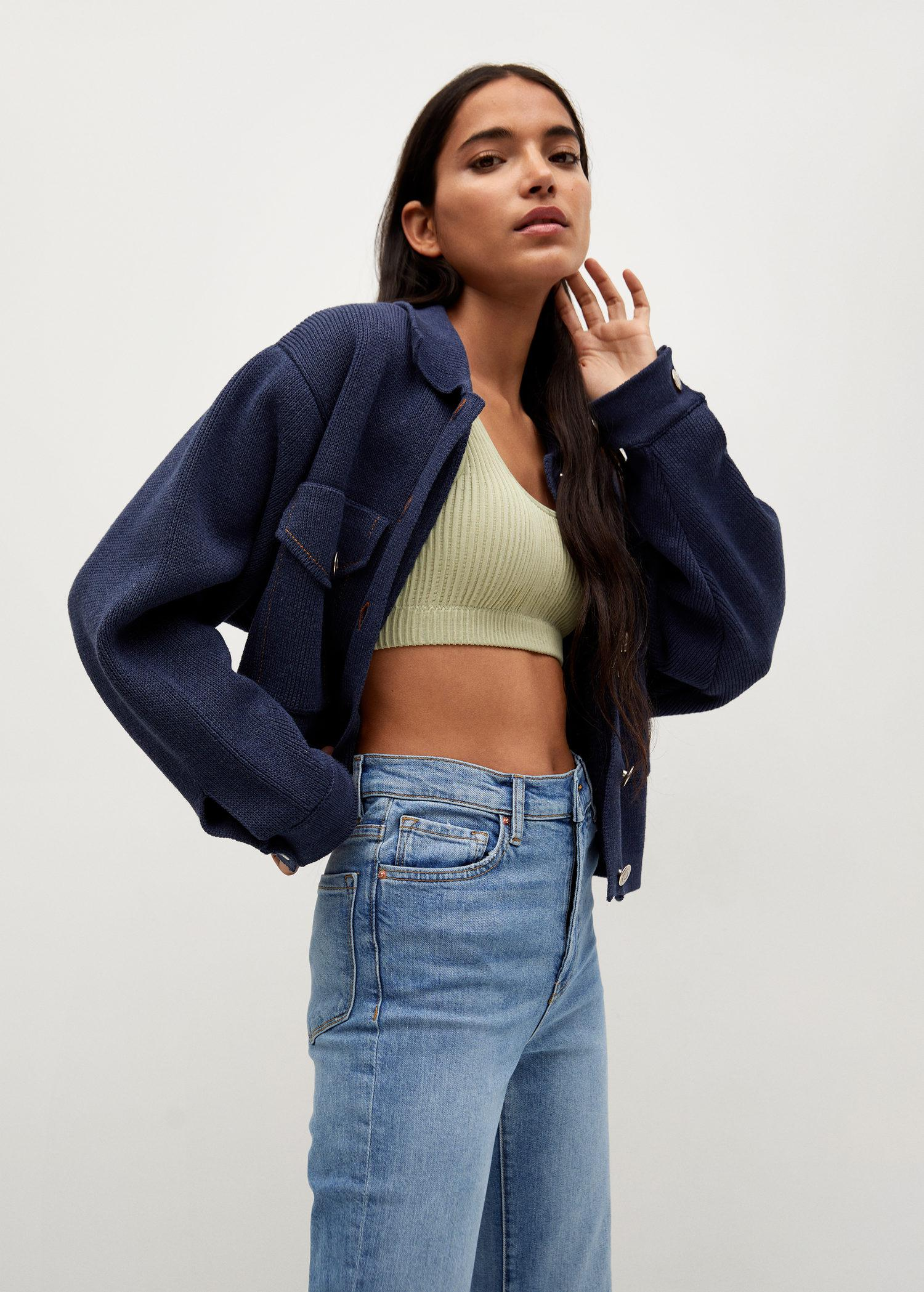 Crop flared jeans 4