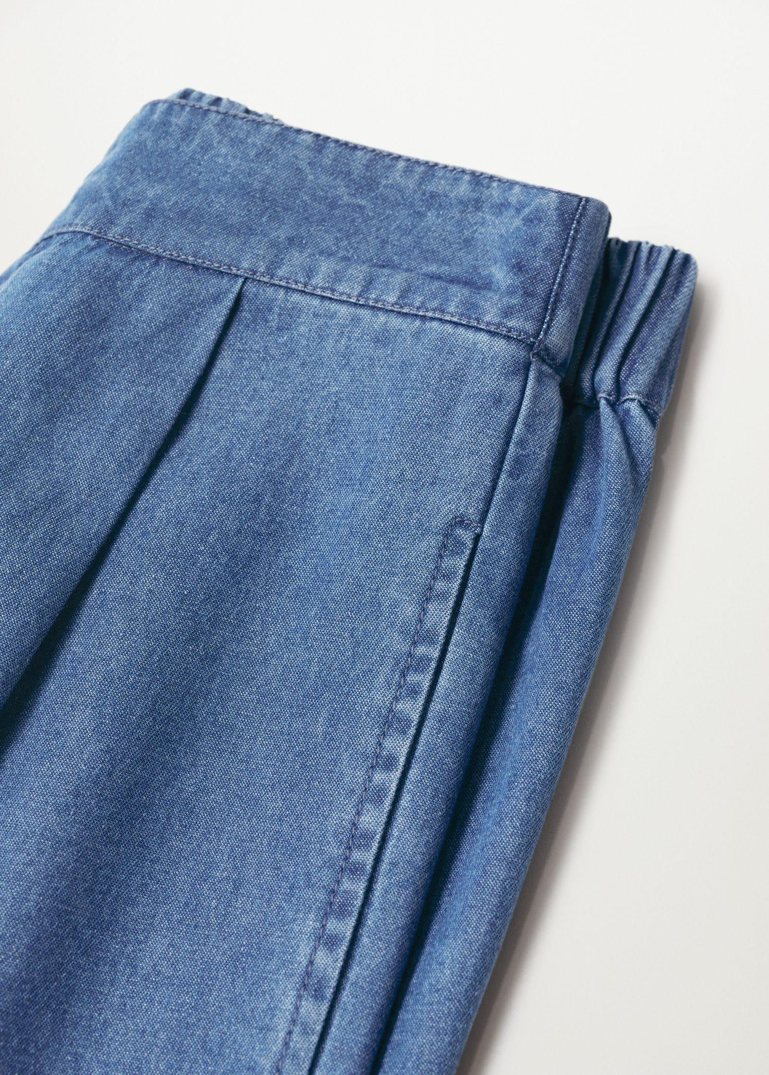Pleated culottes pants 5