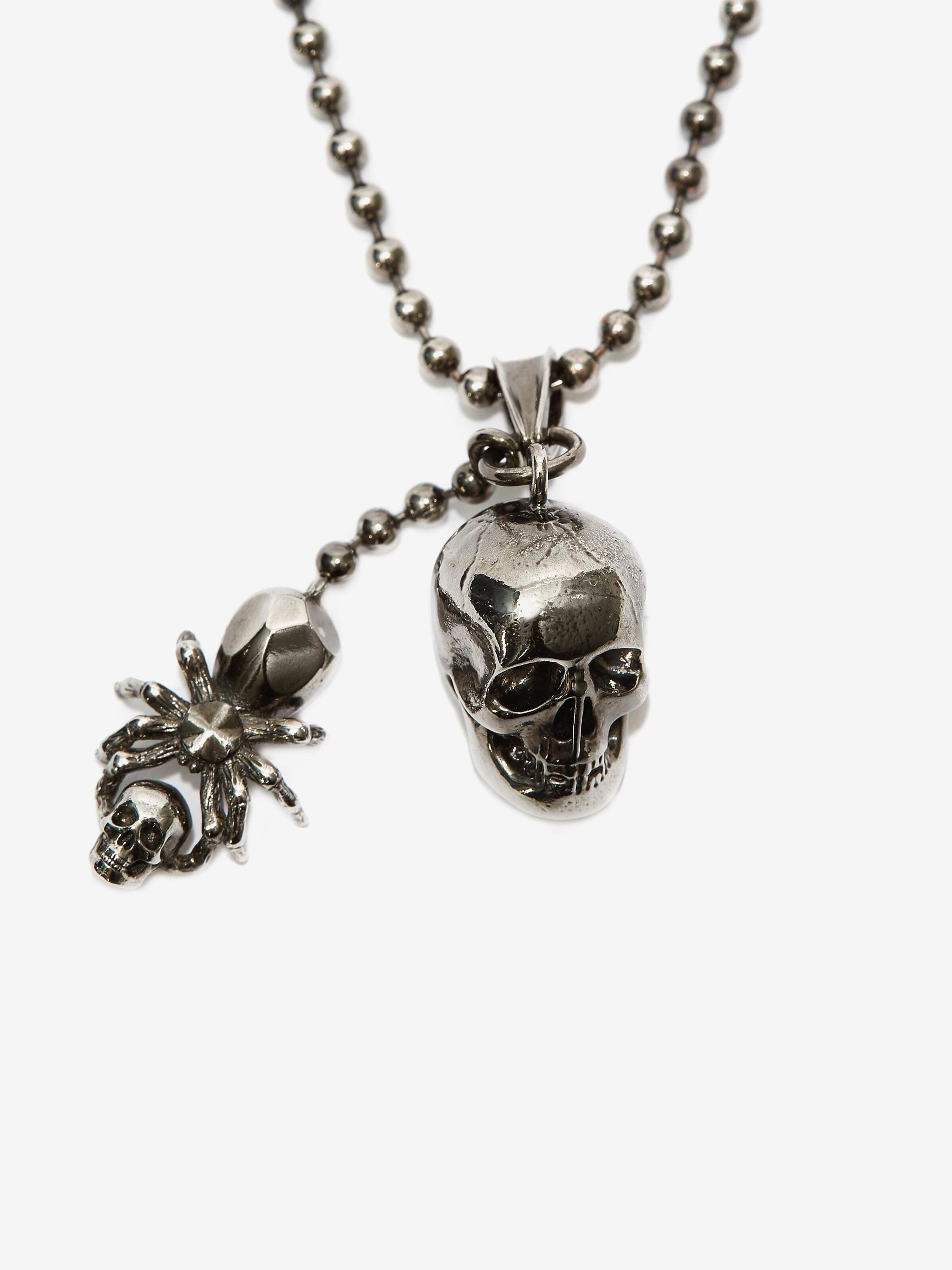 Spider and Skull Necklace 1