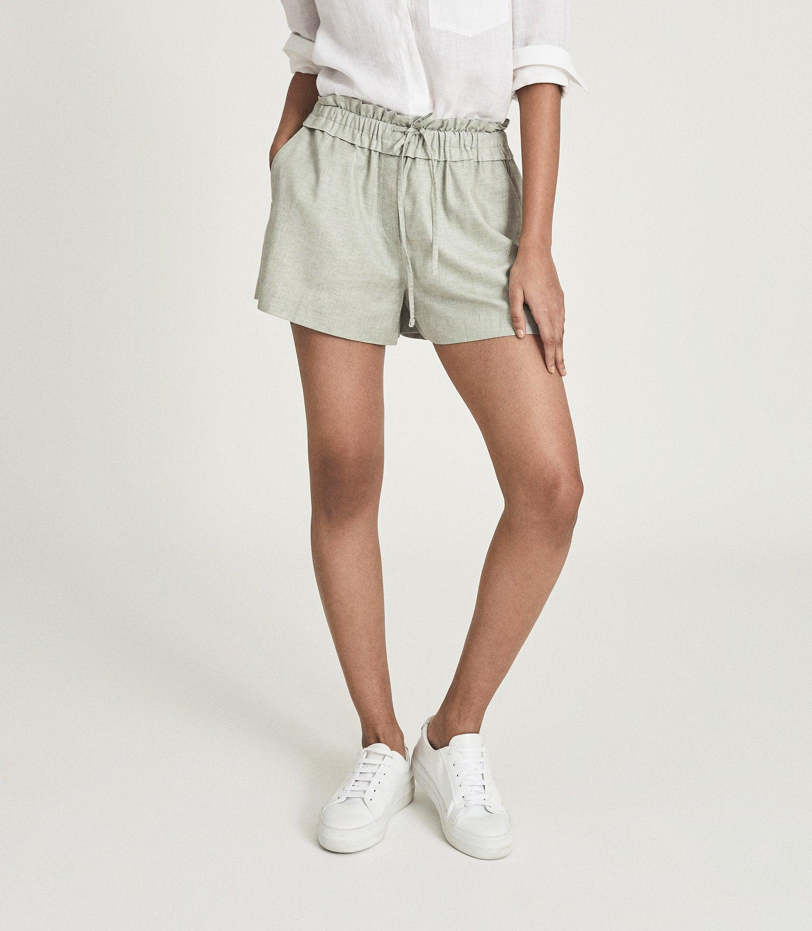 LACEY - LINEN BLEND DRAWCORD SHORTS 2