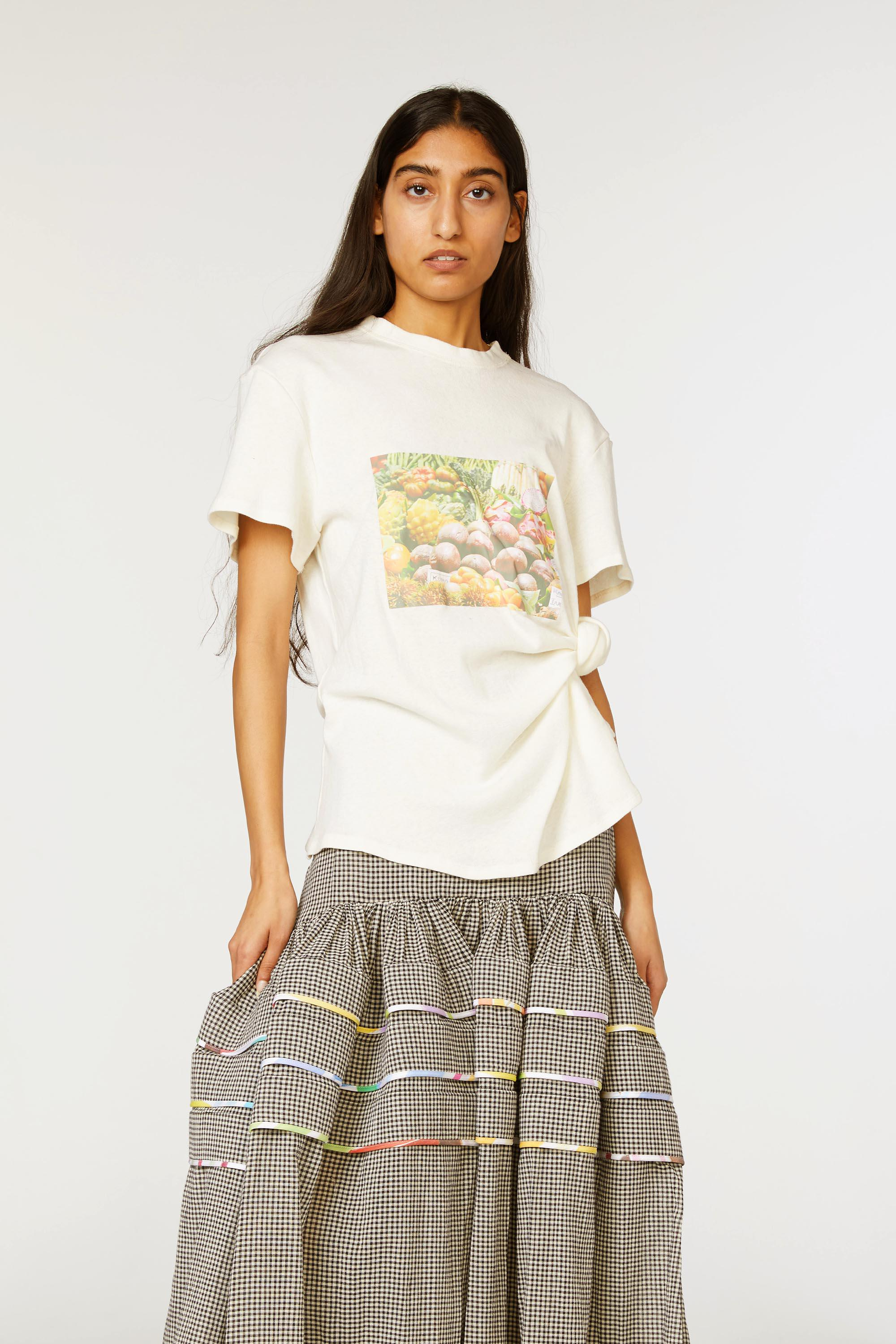 Produce Print Knotted Tee 2