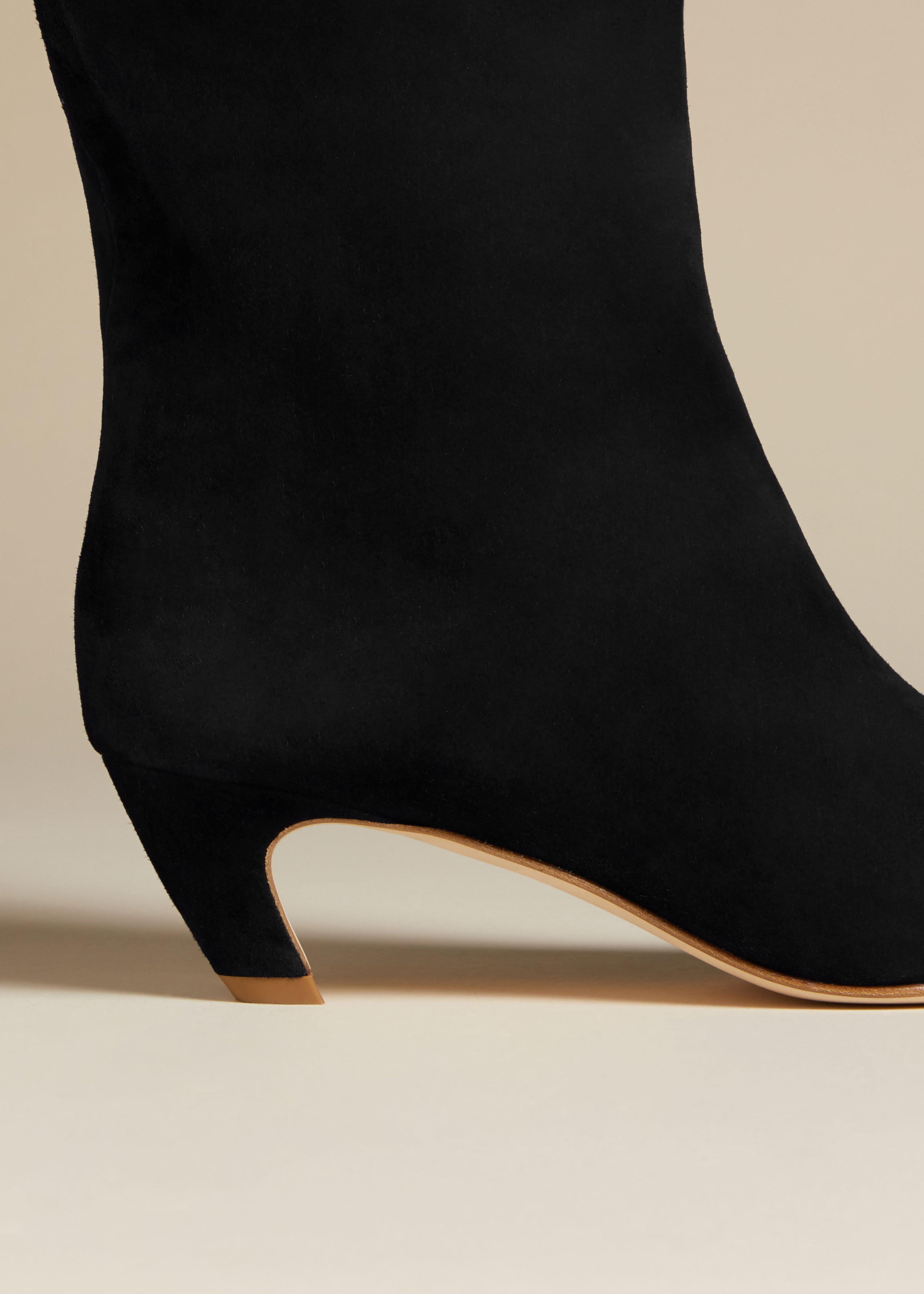The Arizona Boot in Black Suede 3