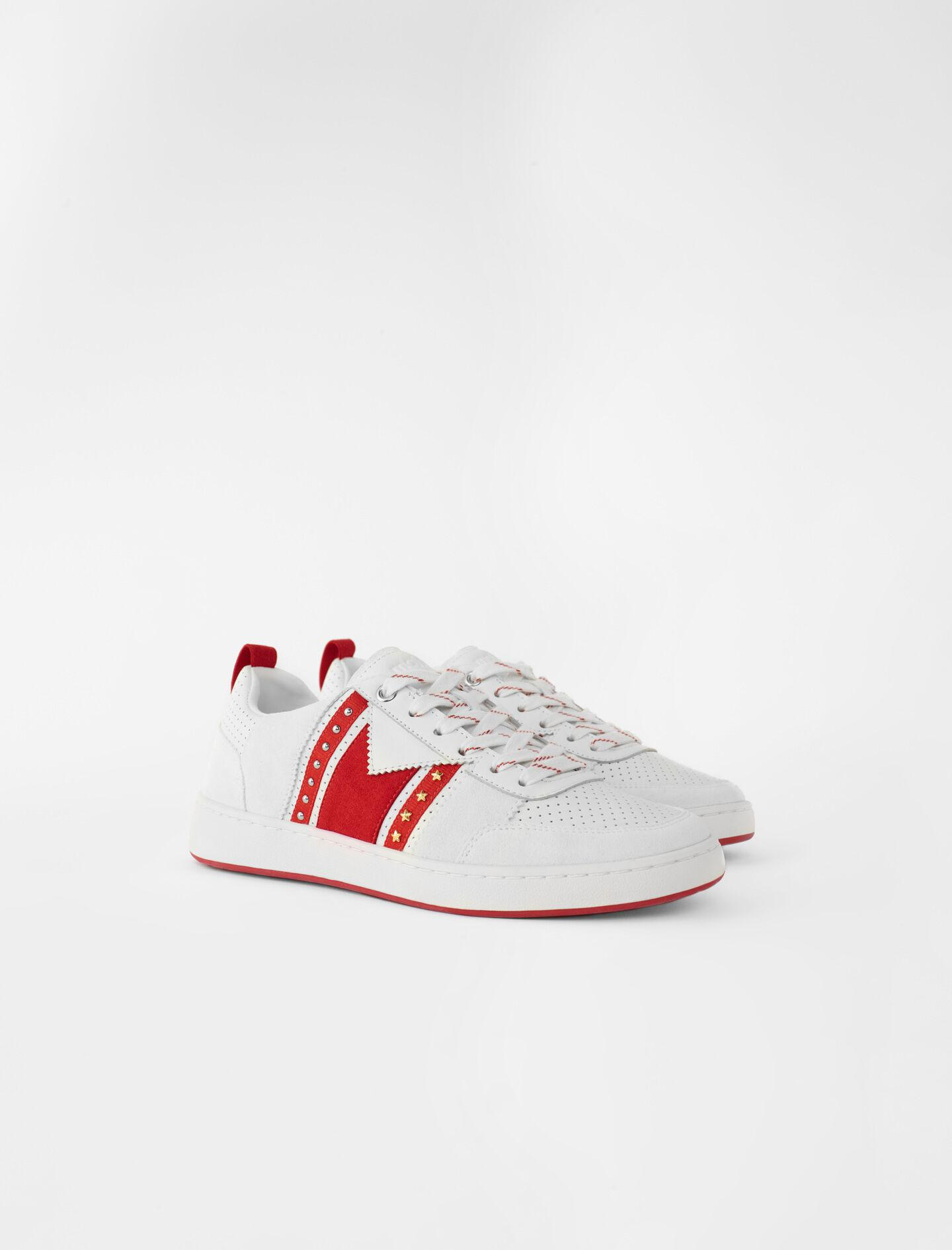 TWO-TONE LEATHER SNEAKERS 1