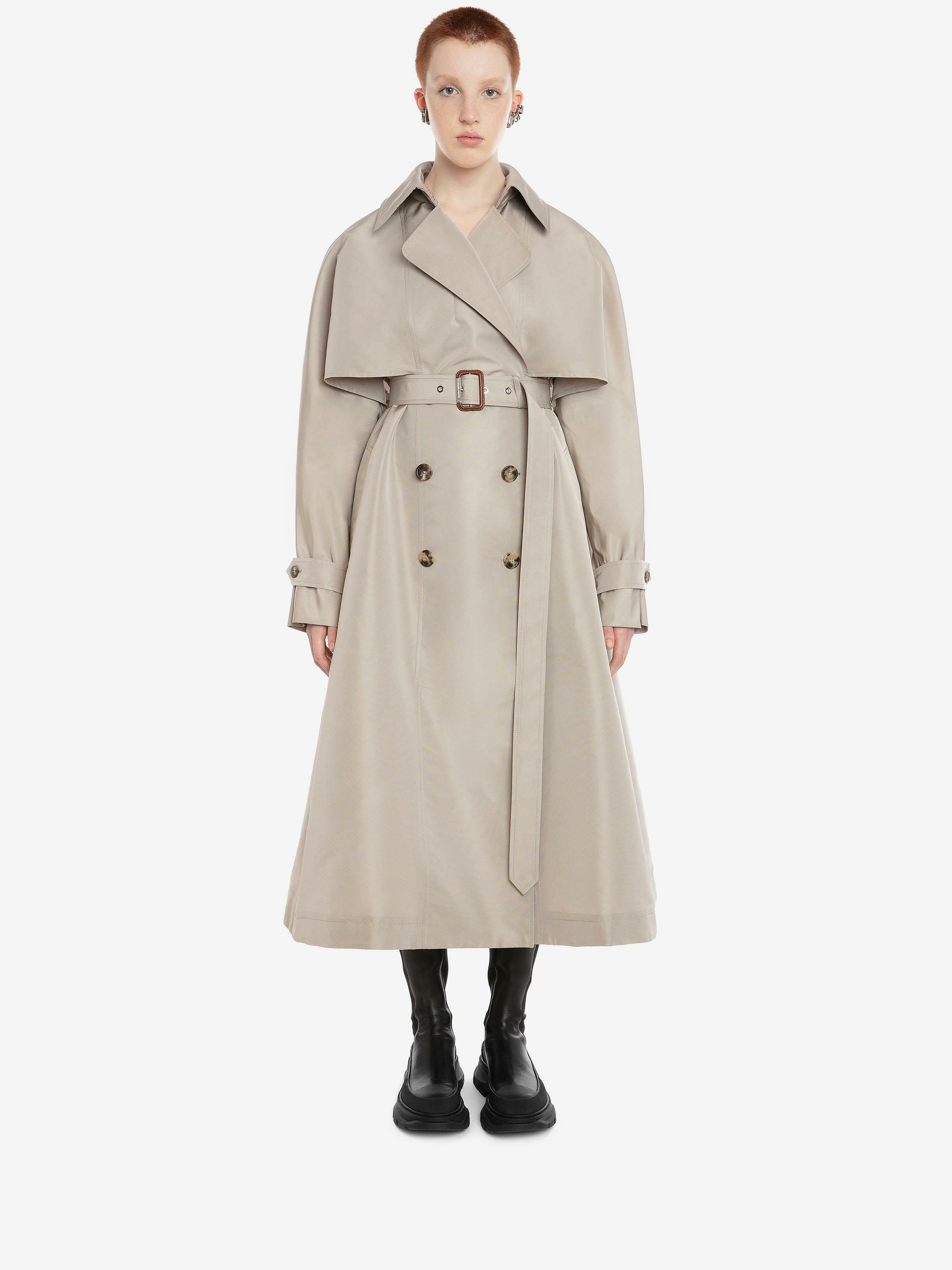 Dropped Sleeve Trench Coat