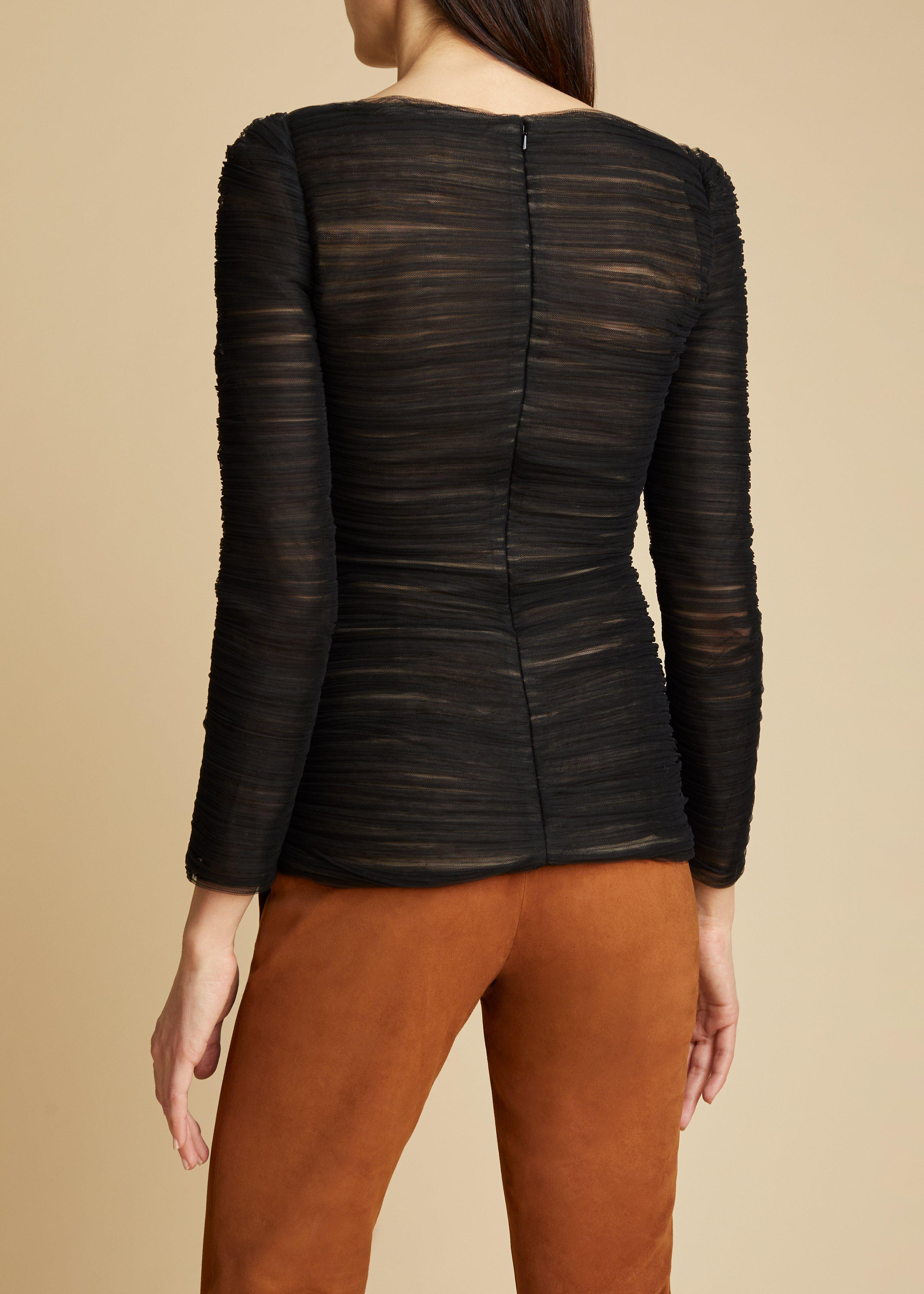 The Vienna Top in Black 2