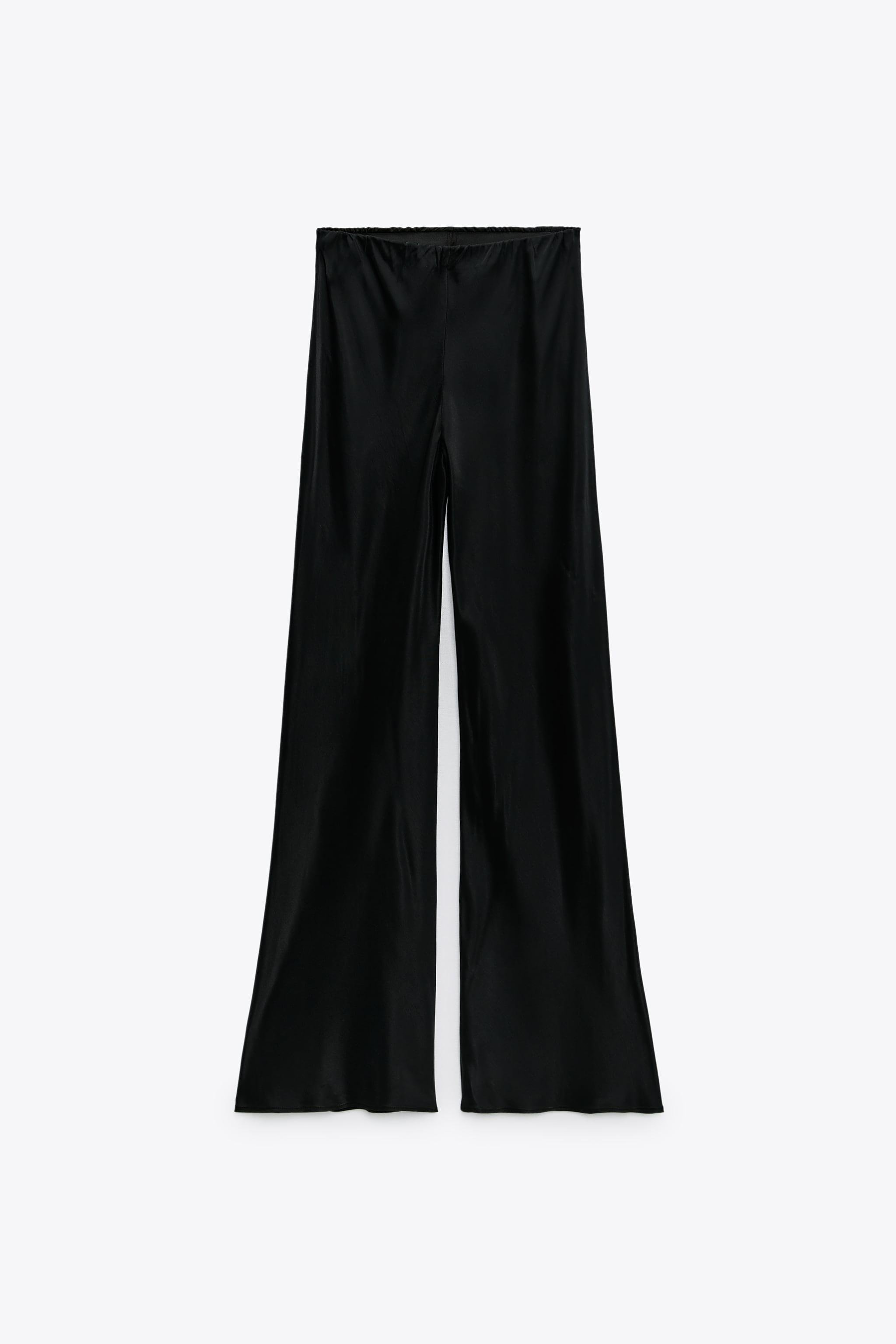 FLARED SATIN EFFECT PANTS 5