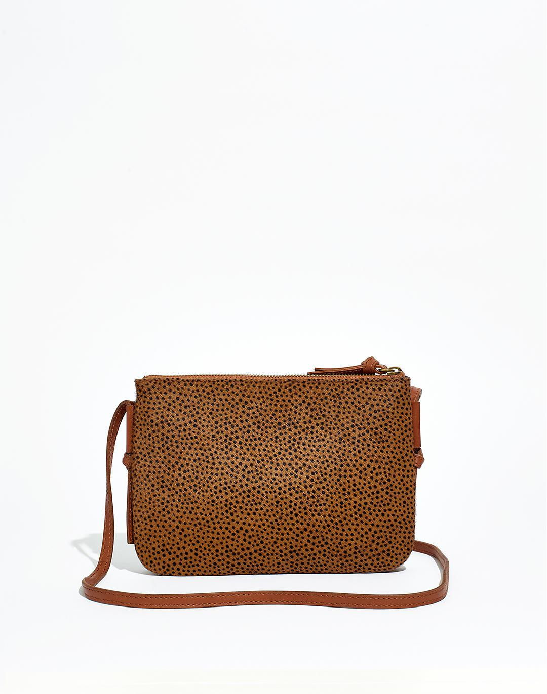 The Knotted Crossbody Bag in Spotted Calf Hair