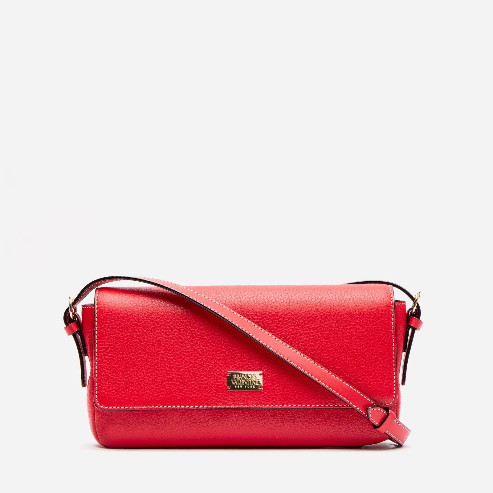 Ellie Crossbody Tumbled Leather Red