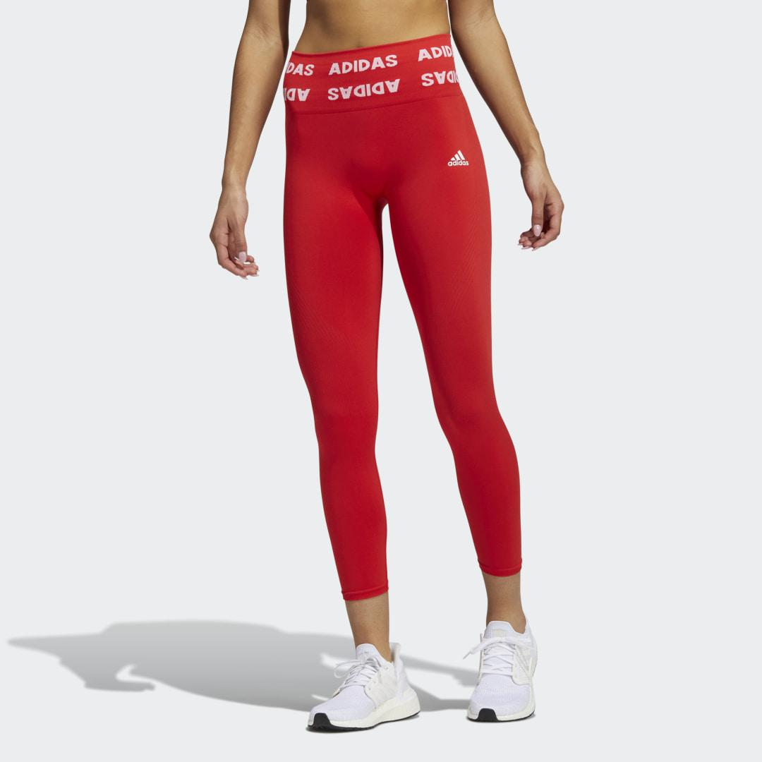Training Aeroknit 7/8 High-Rise Tights Red 0
