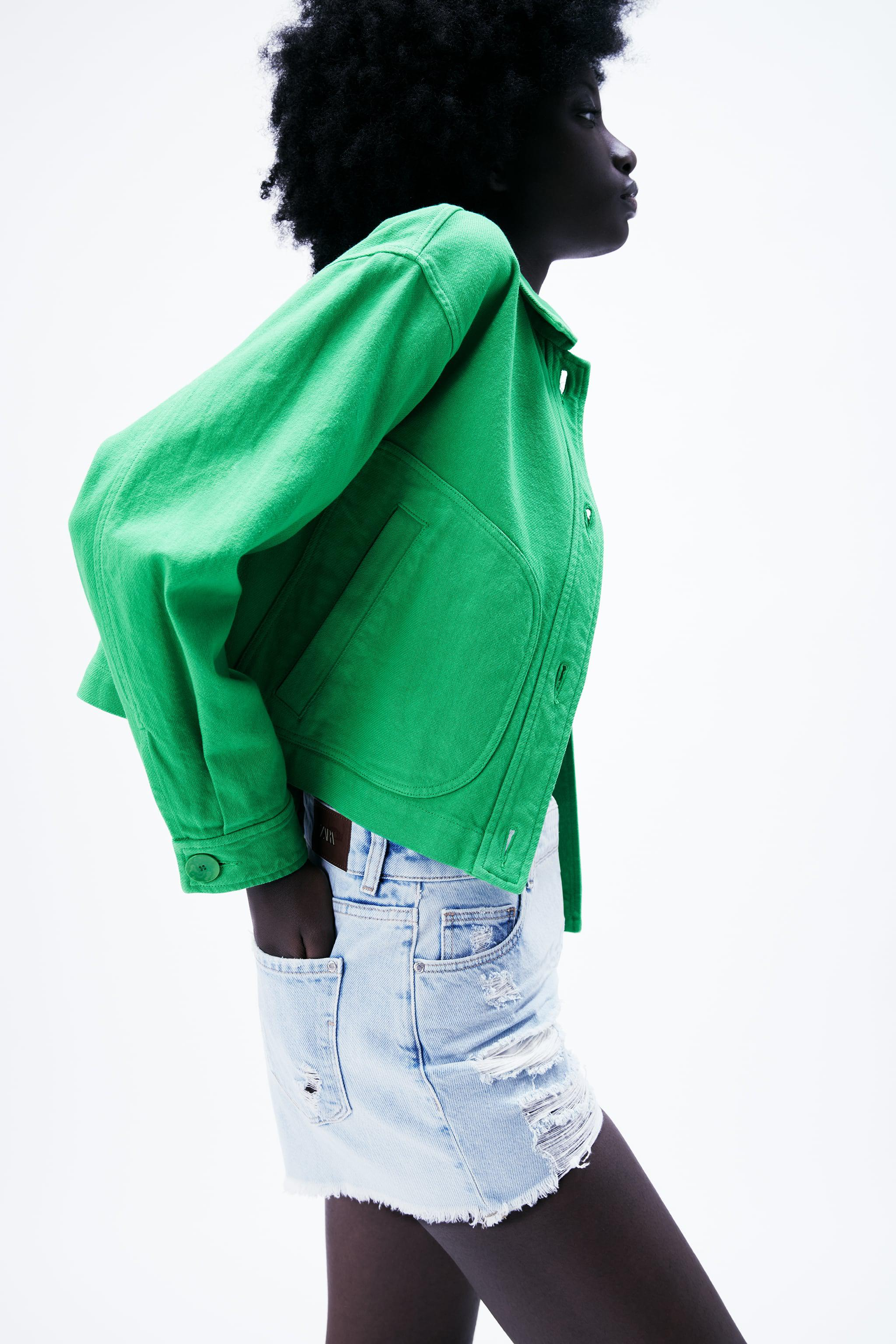 SOLID COLOR CROPPED JACKET 3
