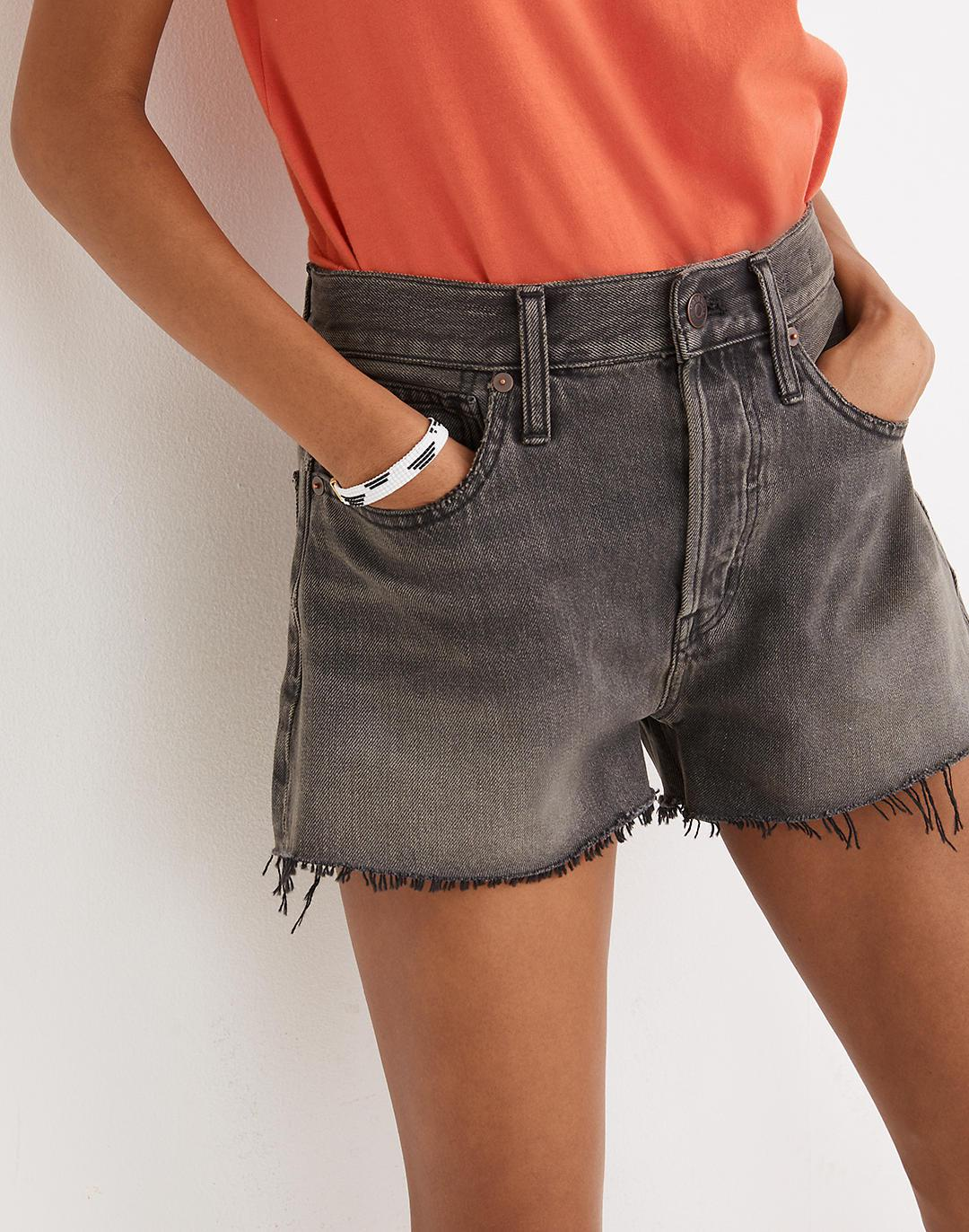 Relaxed Denim Shorts in Bienville Wash 1