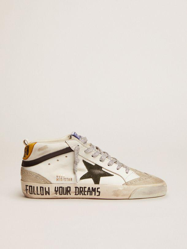 Mid Star LTD sneakers with leather and suede upper and snake-print leather star