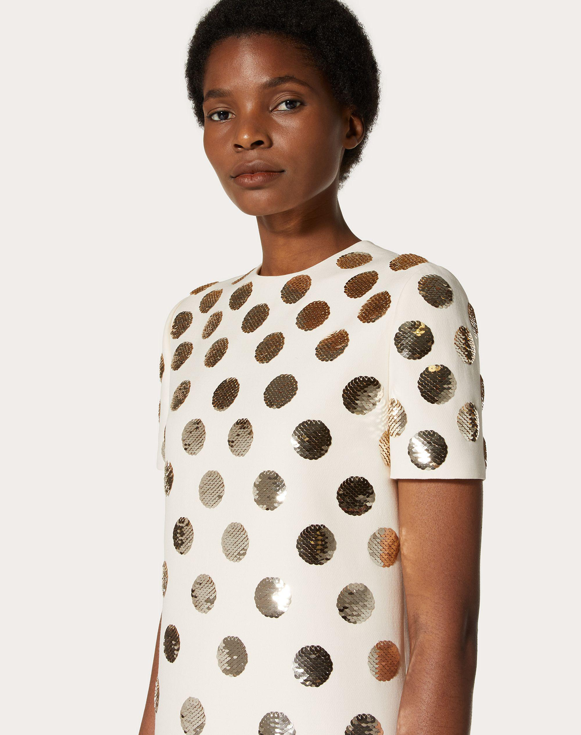 SHORT EMBROIDERED CREPE COUTURE DRESS 3