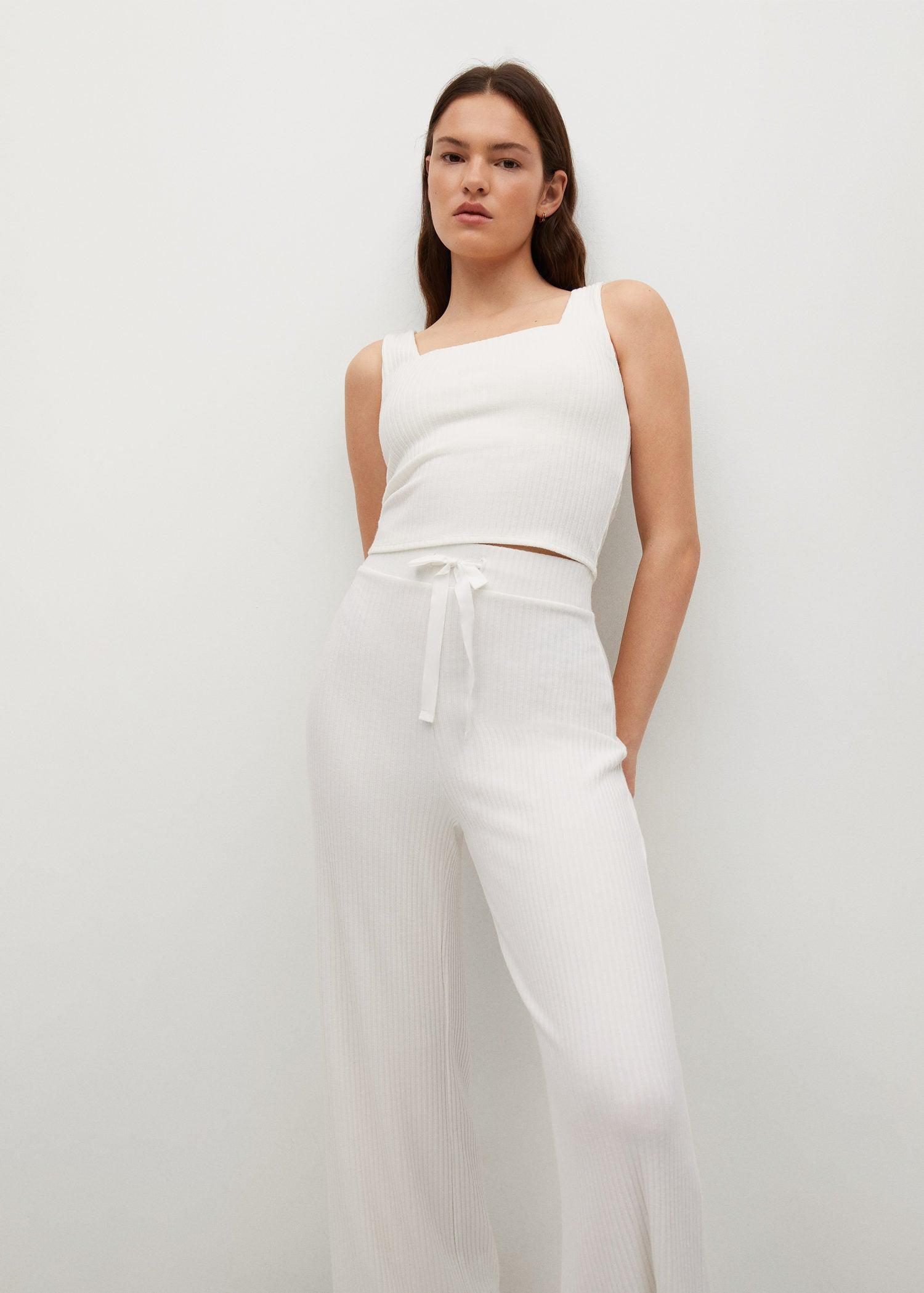 Ribbed knit trousers 3