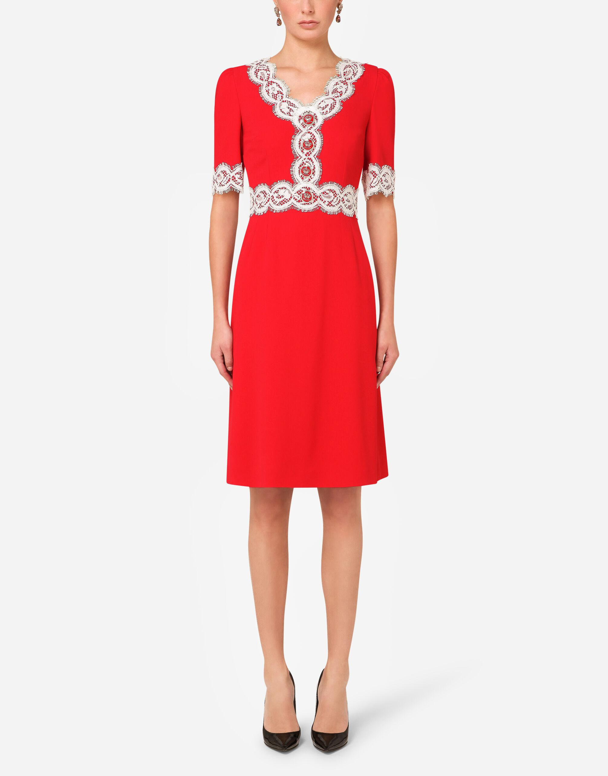 Cady midi dress with lace detailing