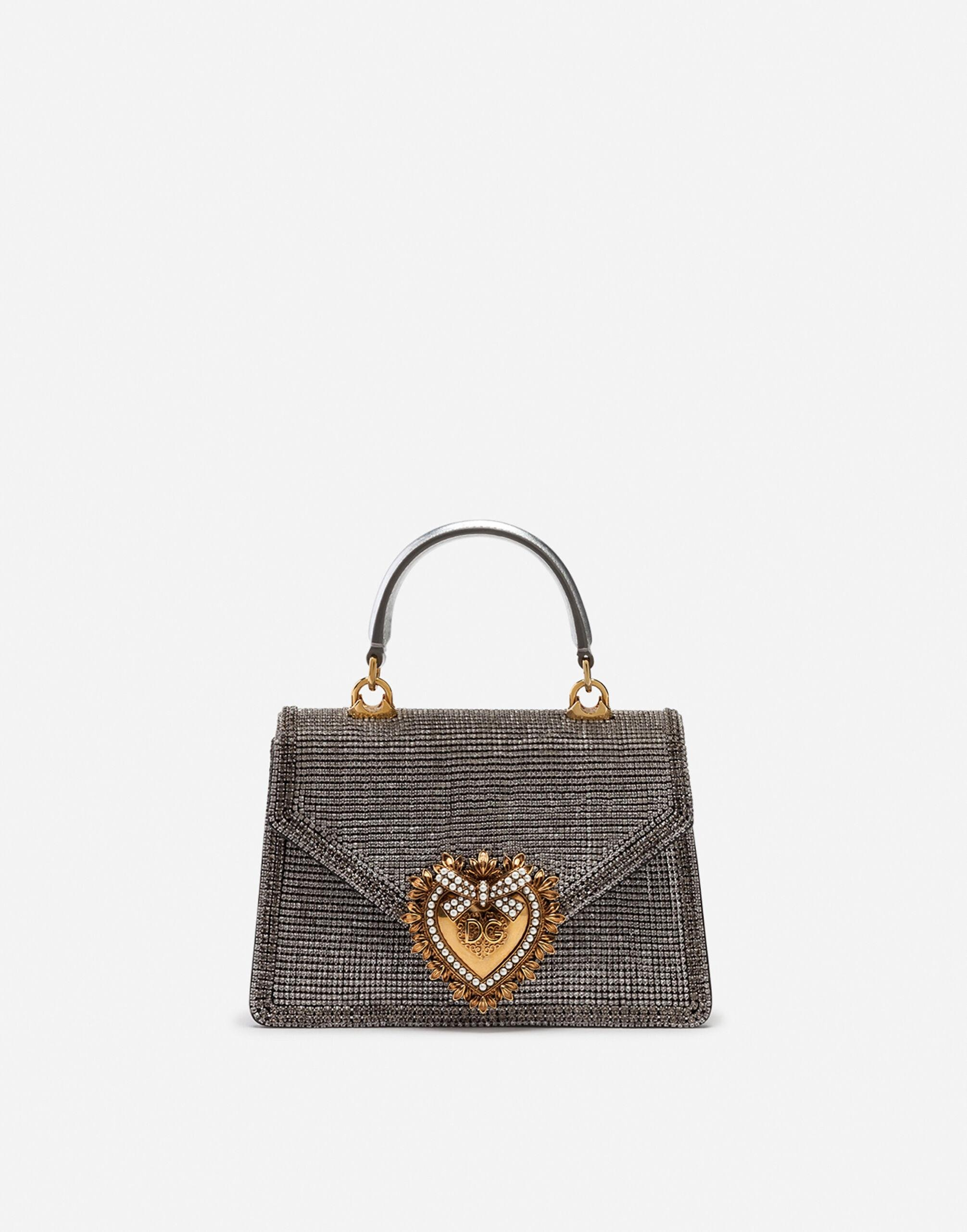 Small Devotion bag in mordore nappa leather with rhinestone detailing